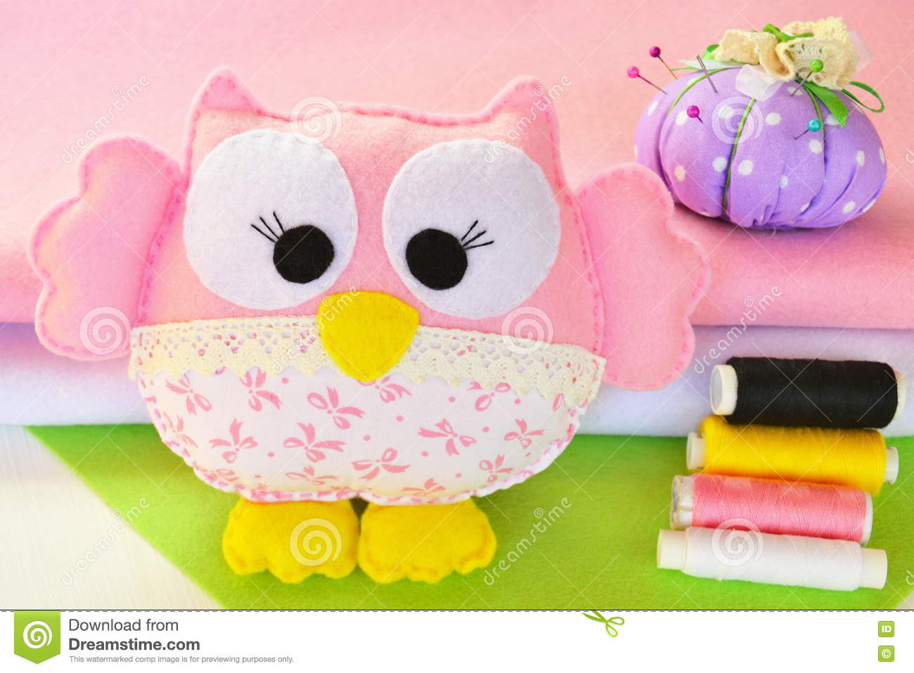 Cute Owl Toy Is Made From Felt And Fabric Home Decor A Childs