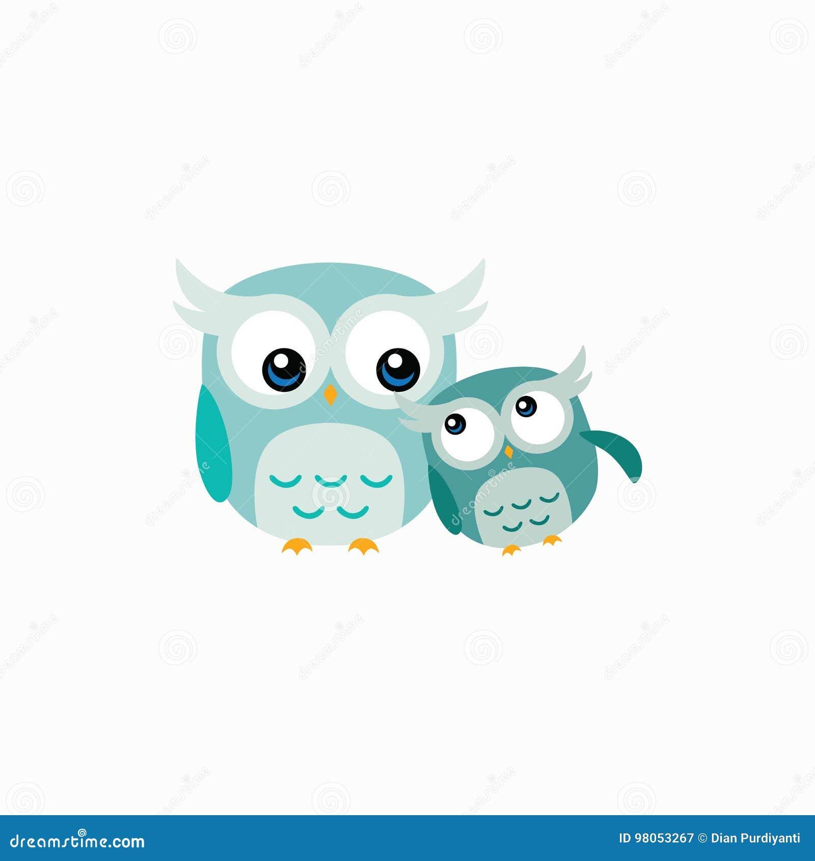 cute owl vector design illustration stock vector illustration of