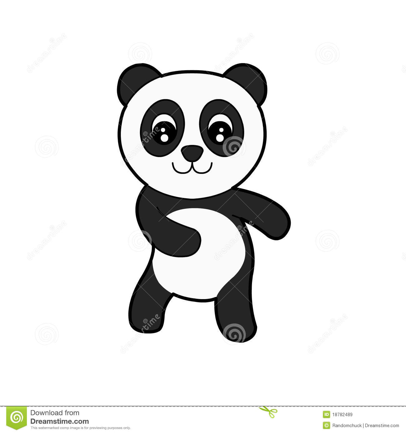 Cute Panda Stock Illustration Illustration Of Cute Drawing