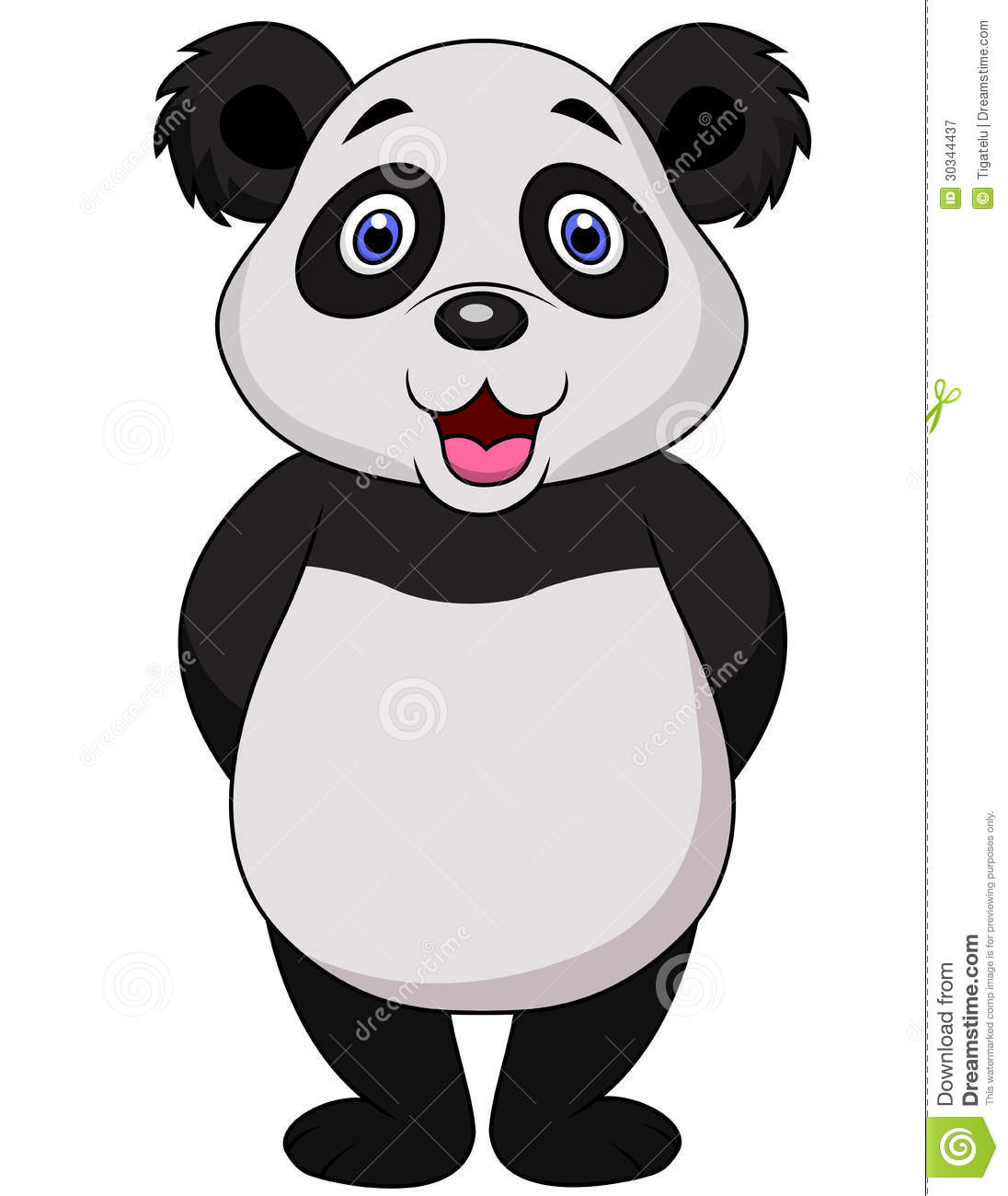 Cute Panda Cartoon Royalty Free Stock Photography - Image: 30344437