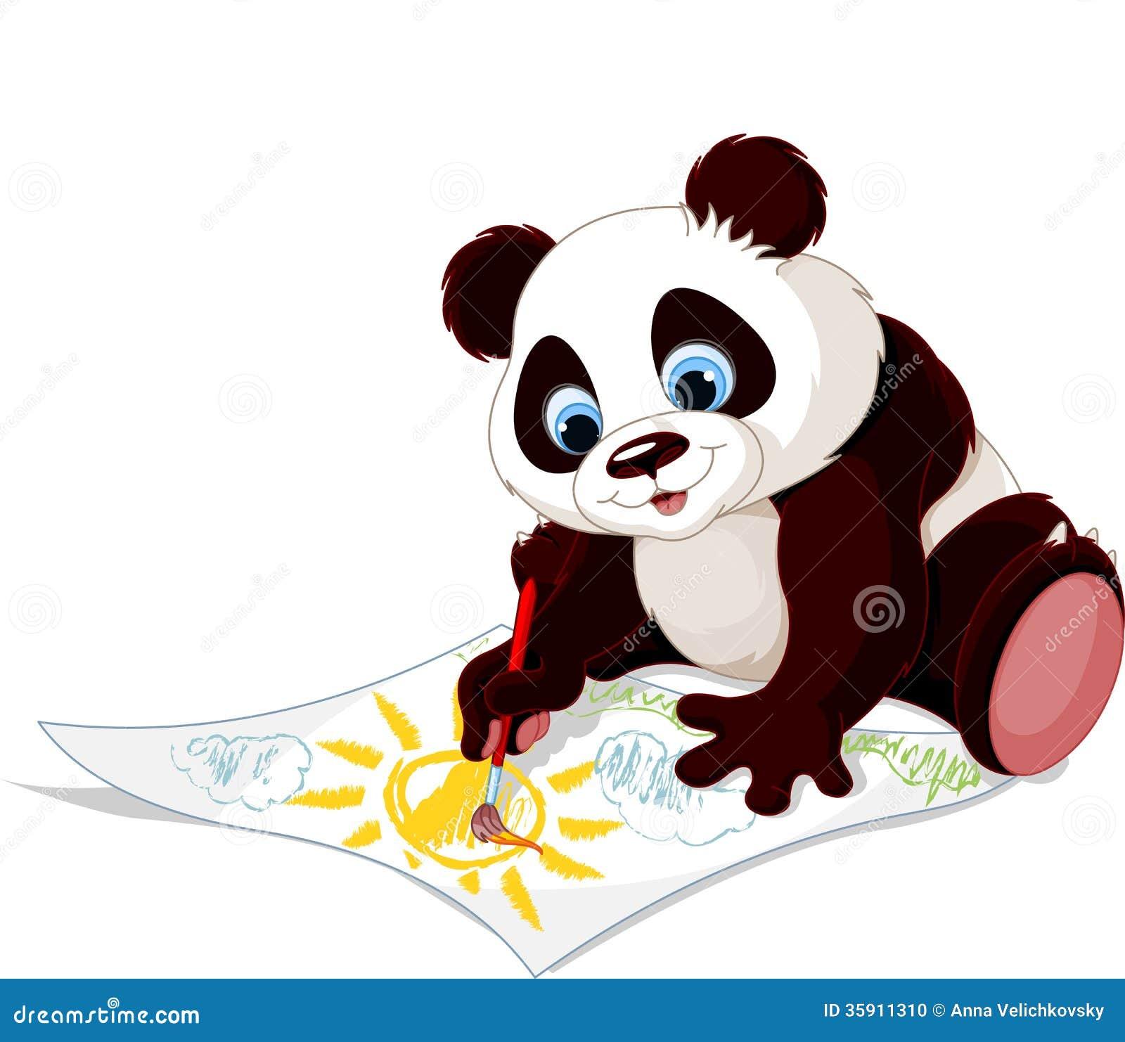 Cute Panda Drawing Picture Stock Photo Image 35911310