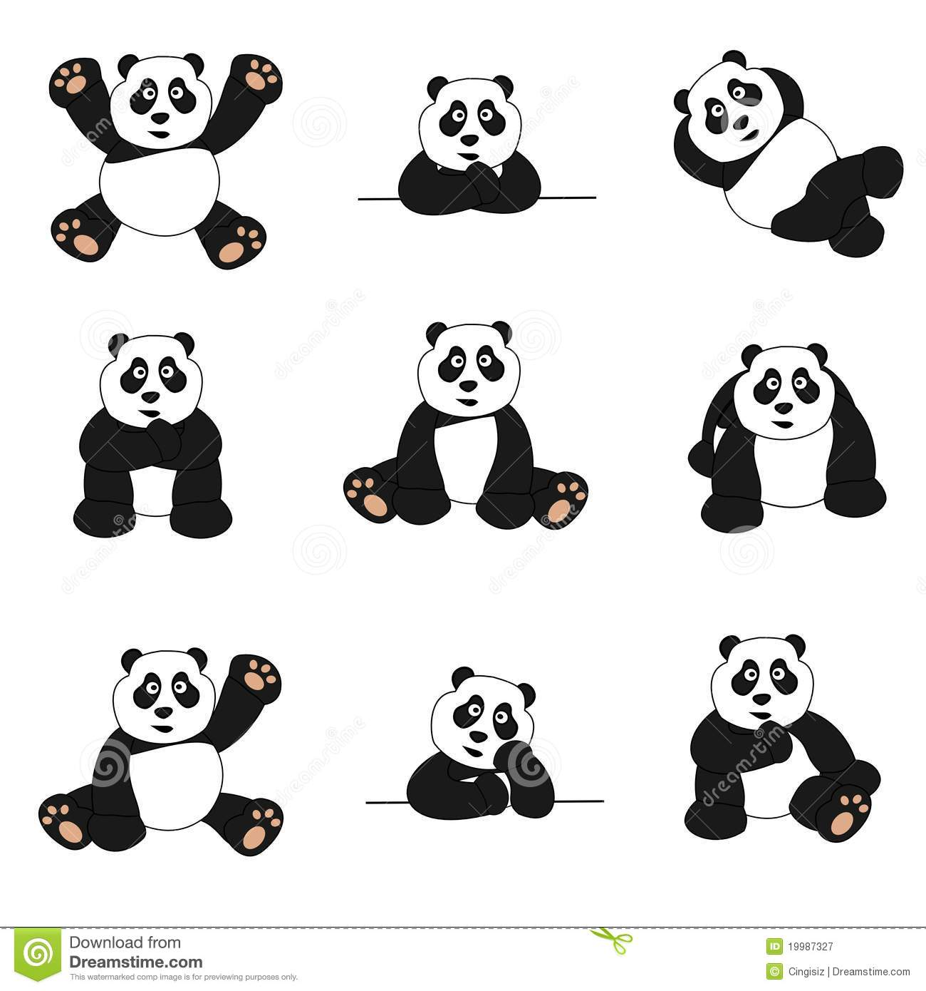 royalty free stock photo - Dessin De Panda Mignon