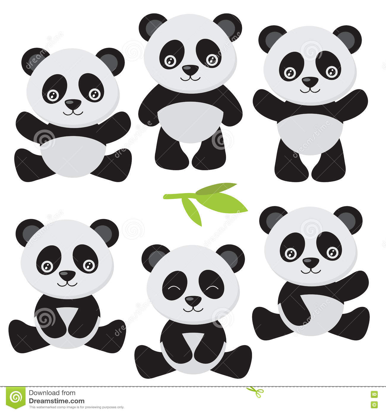 cute panda vector illustration stock vector illustration of funny