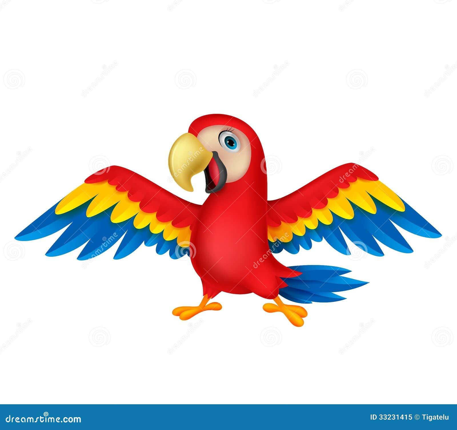 Cute parrot bird carto...