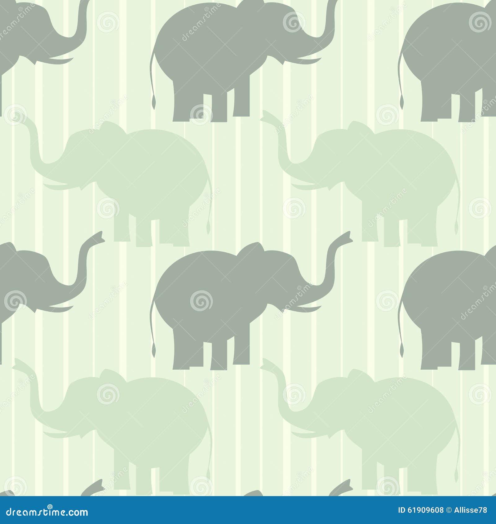 Elephants background pattern