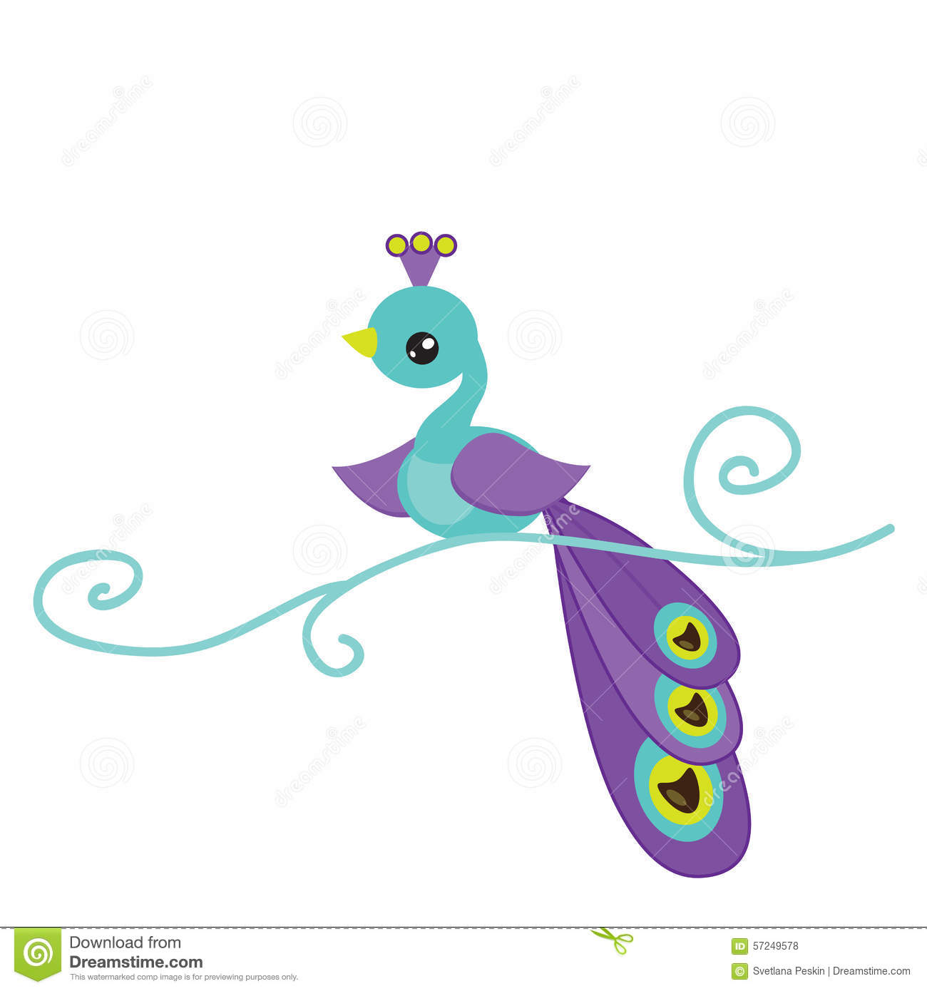 Cute peacock illustration stock vector. Image of funny ...