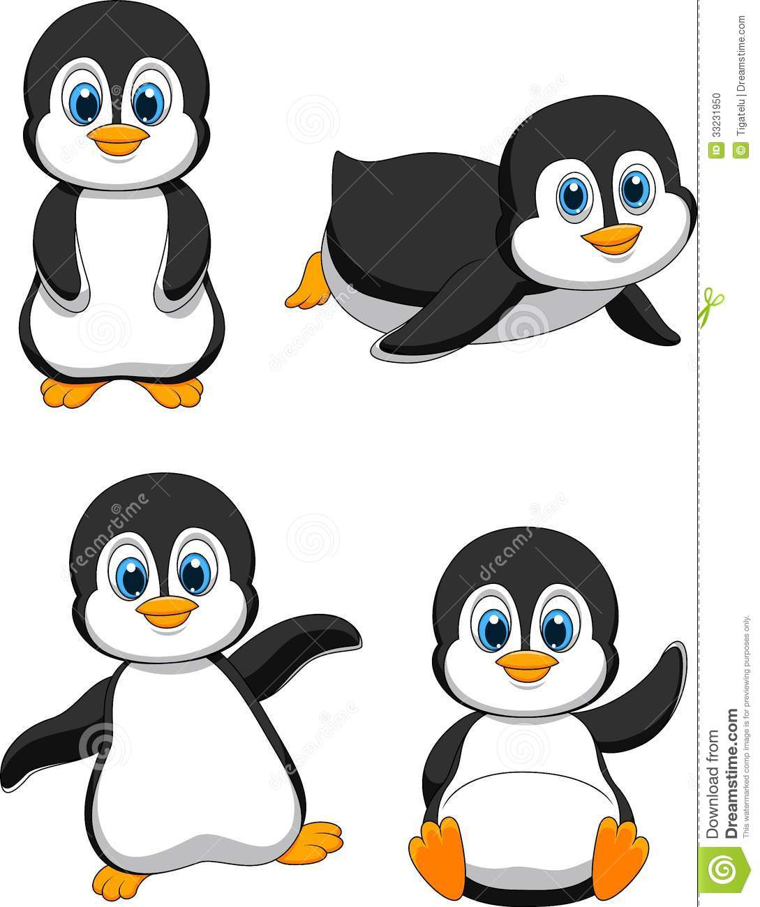 Cute Penguin Cartoon Stock Photo - Image: 33231950
