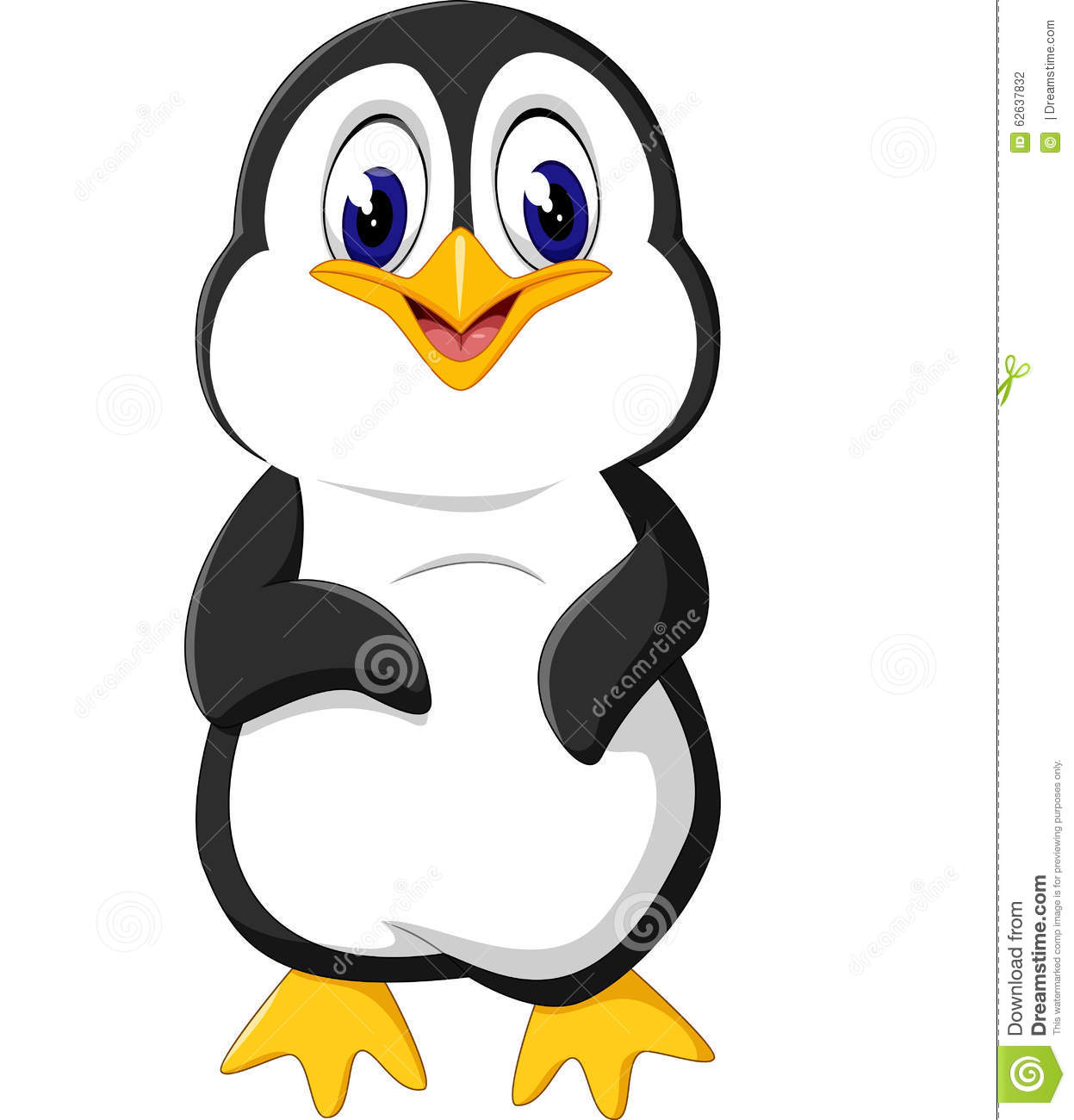 Cute Penguin Cartoon Stock Vector - Image: 62637832