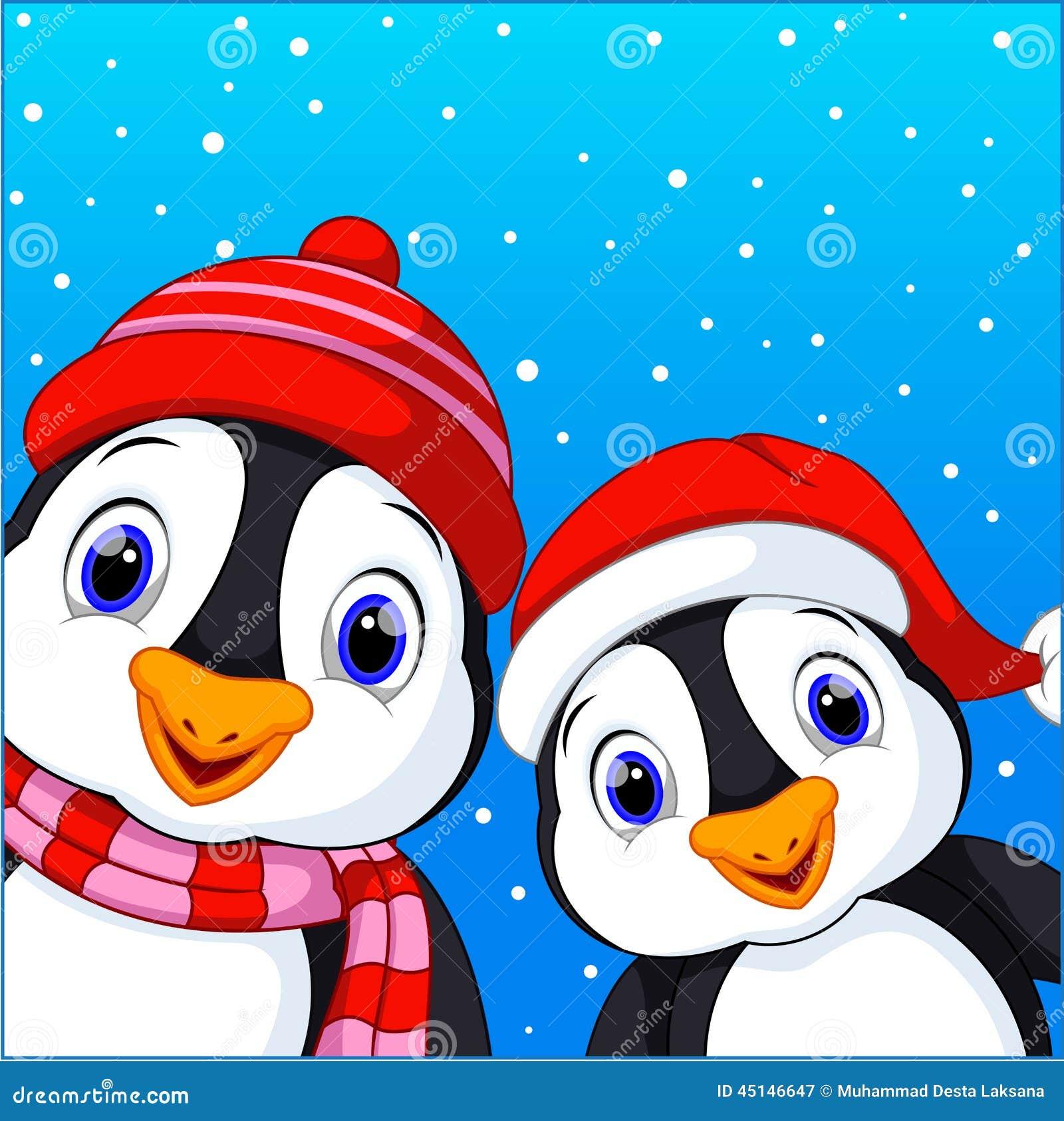 Cute Penguins Cartoon Stock Illustration - Image: 45146647