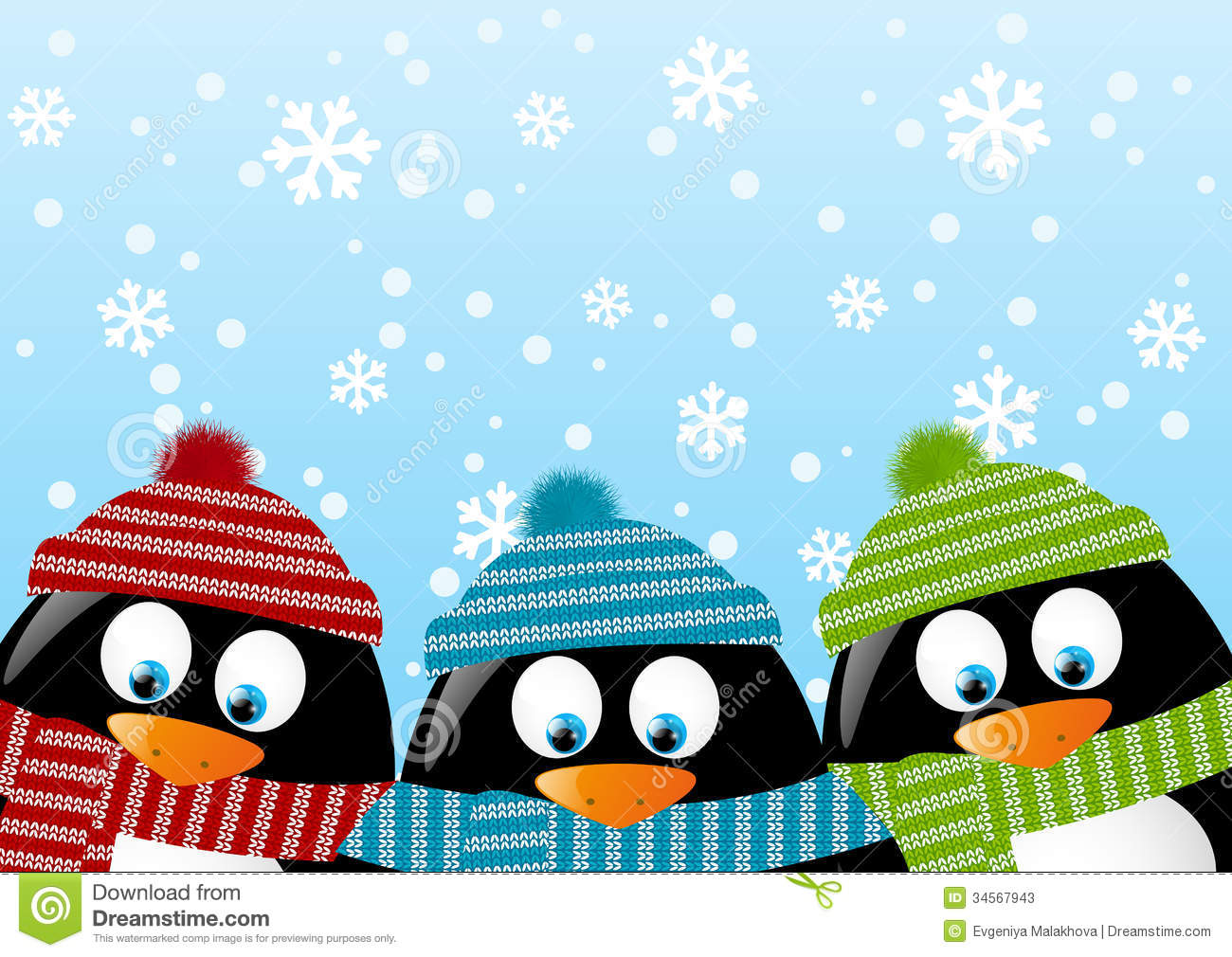 cute penguins stock vector illustration of ornament 34567943