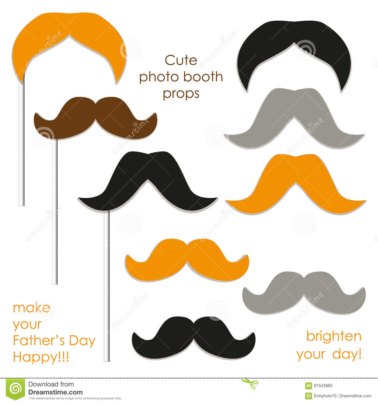 Cute Photo Booth Props To Make Your Father`s Day Really