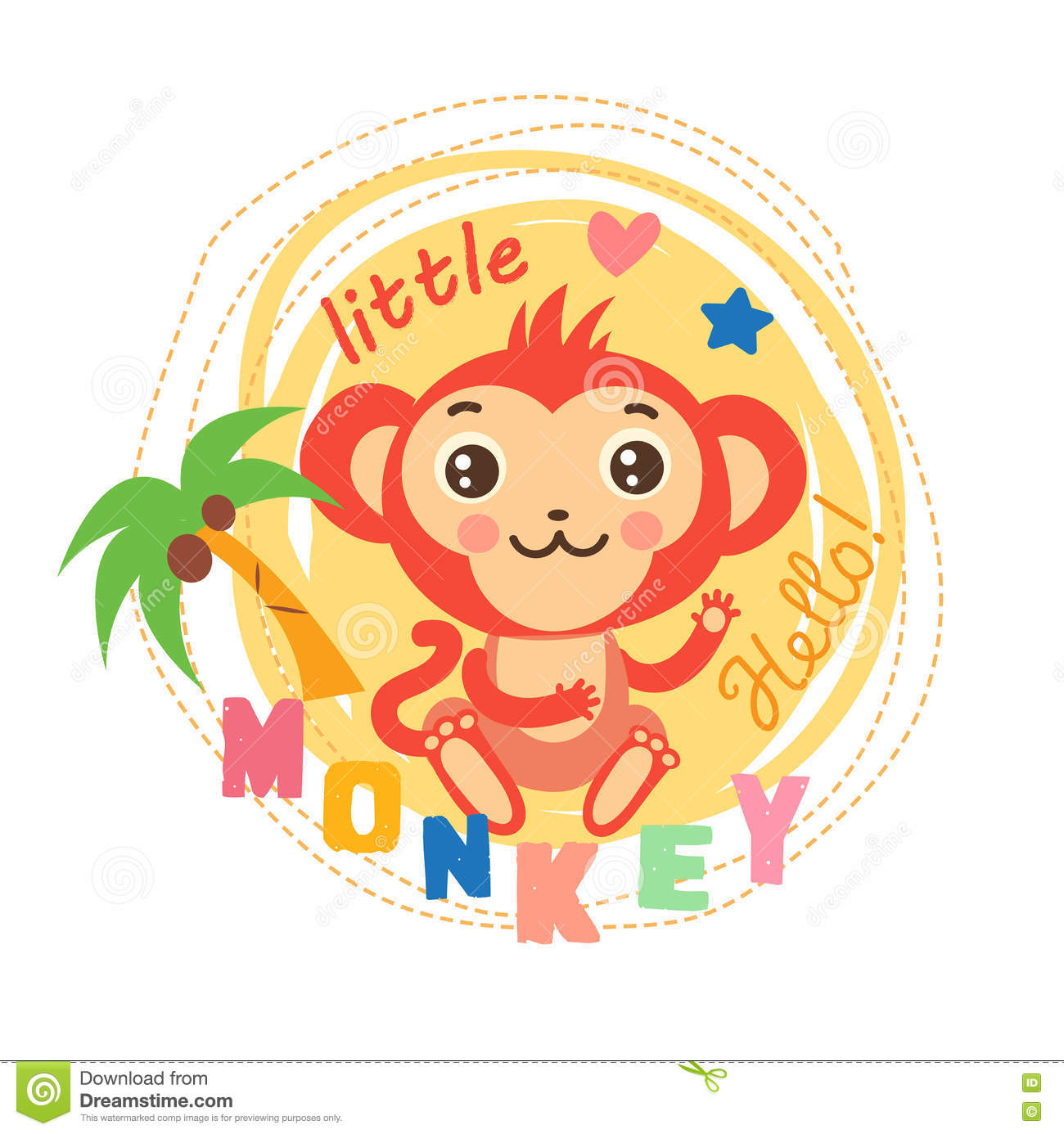 Cute Picture For Kids T Shirt Design Cute Monkey For Shirt Little