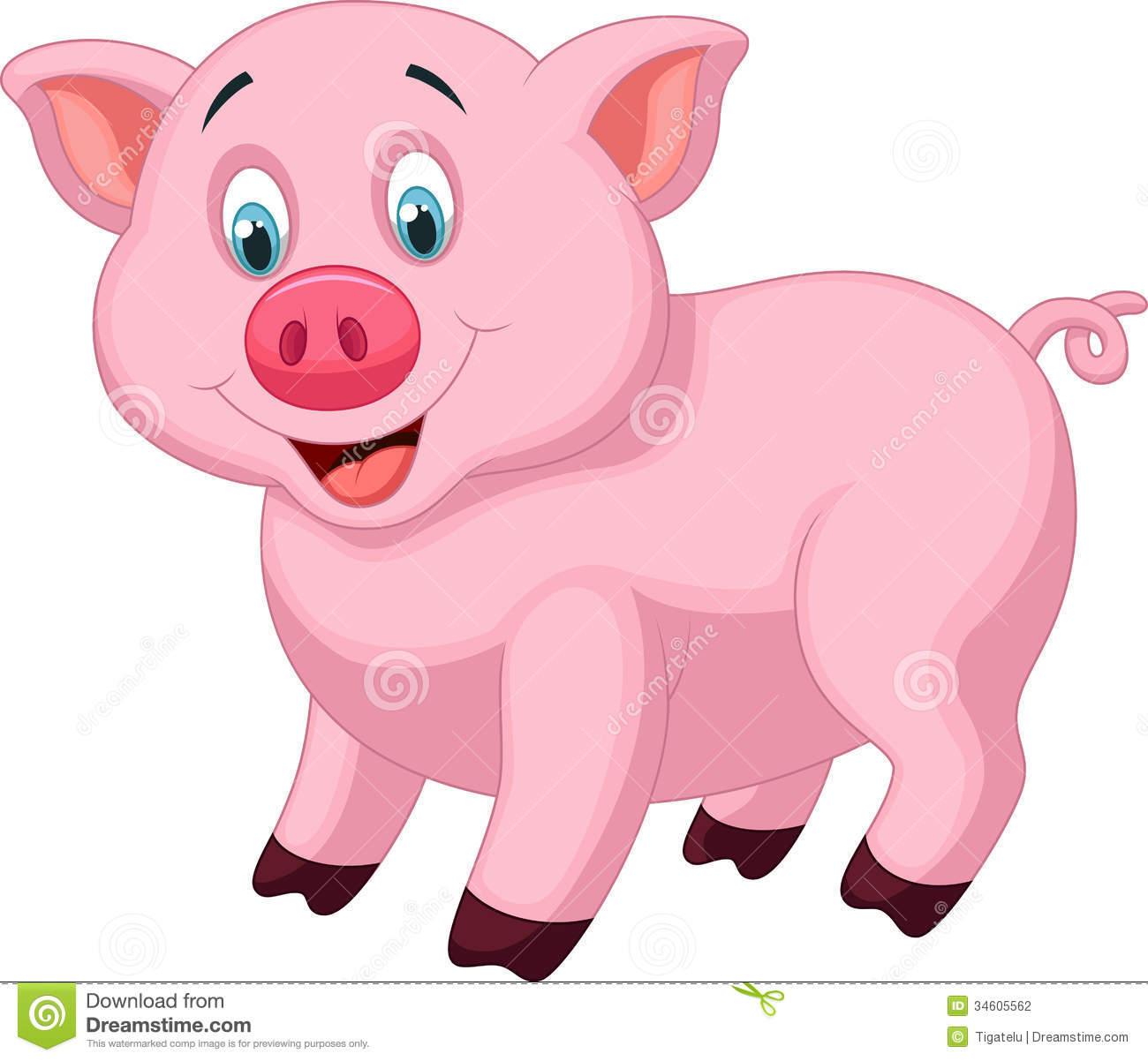 Cute Pig Cartoon Stock Photography - Image: 34605562