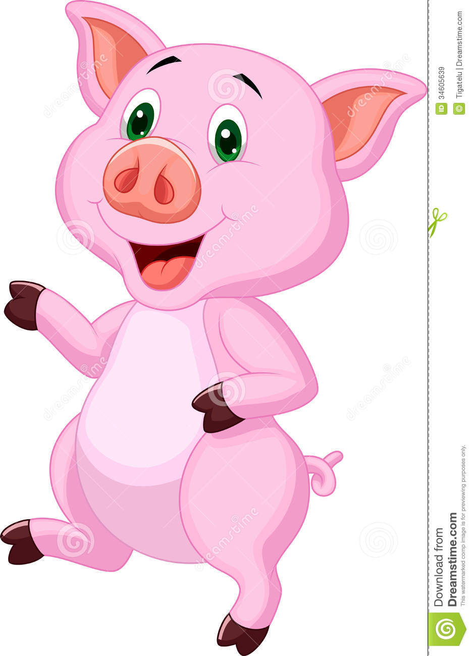 Cute Pig Cartoon Royalty Free Stock Images Image 34605639