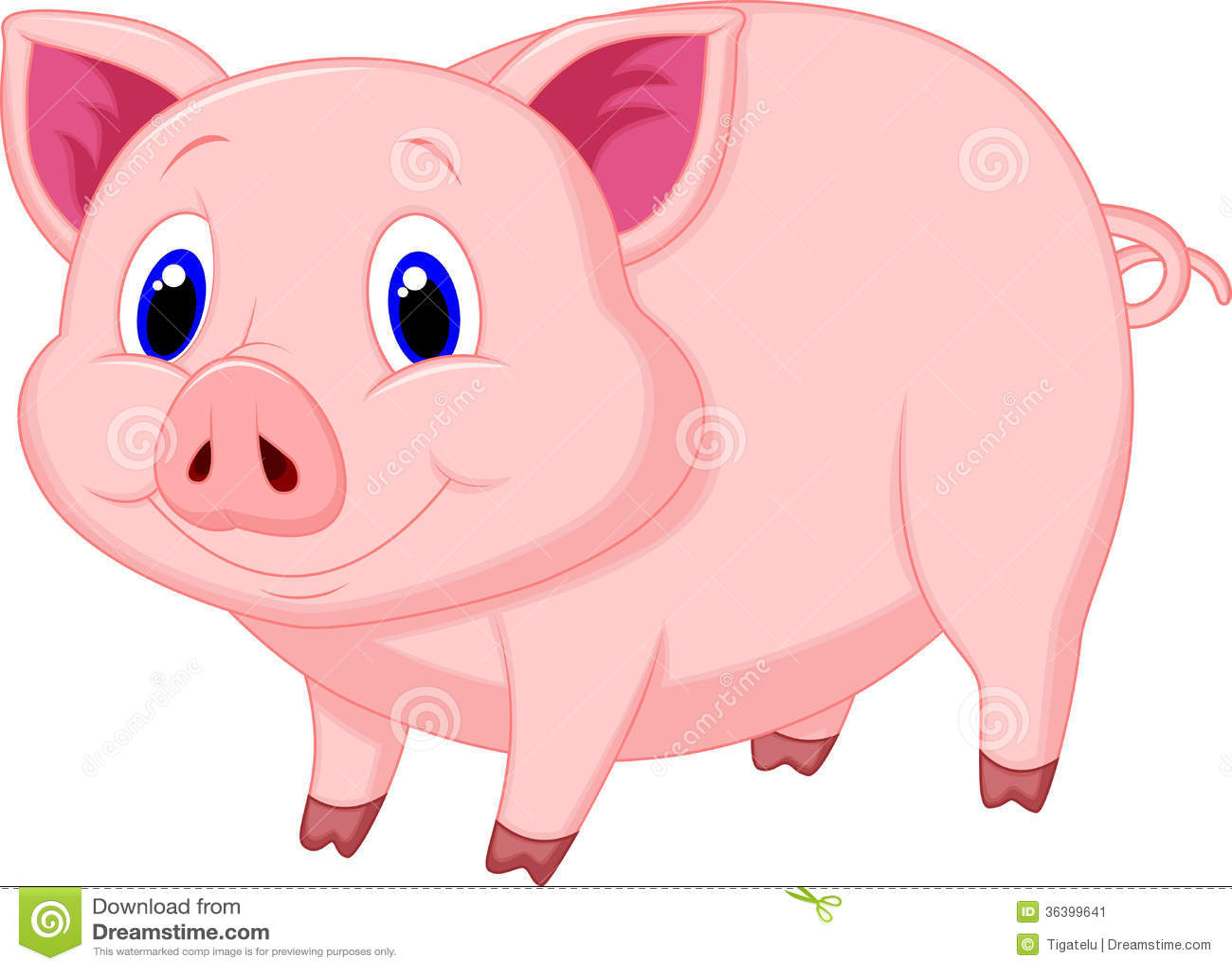 Cute Cartoon Piglets