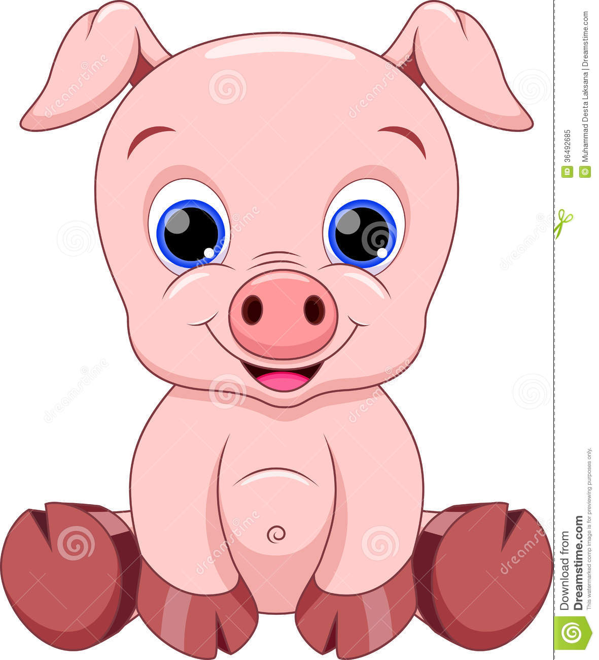 Cute Cartoon Pigs Submited Images