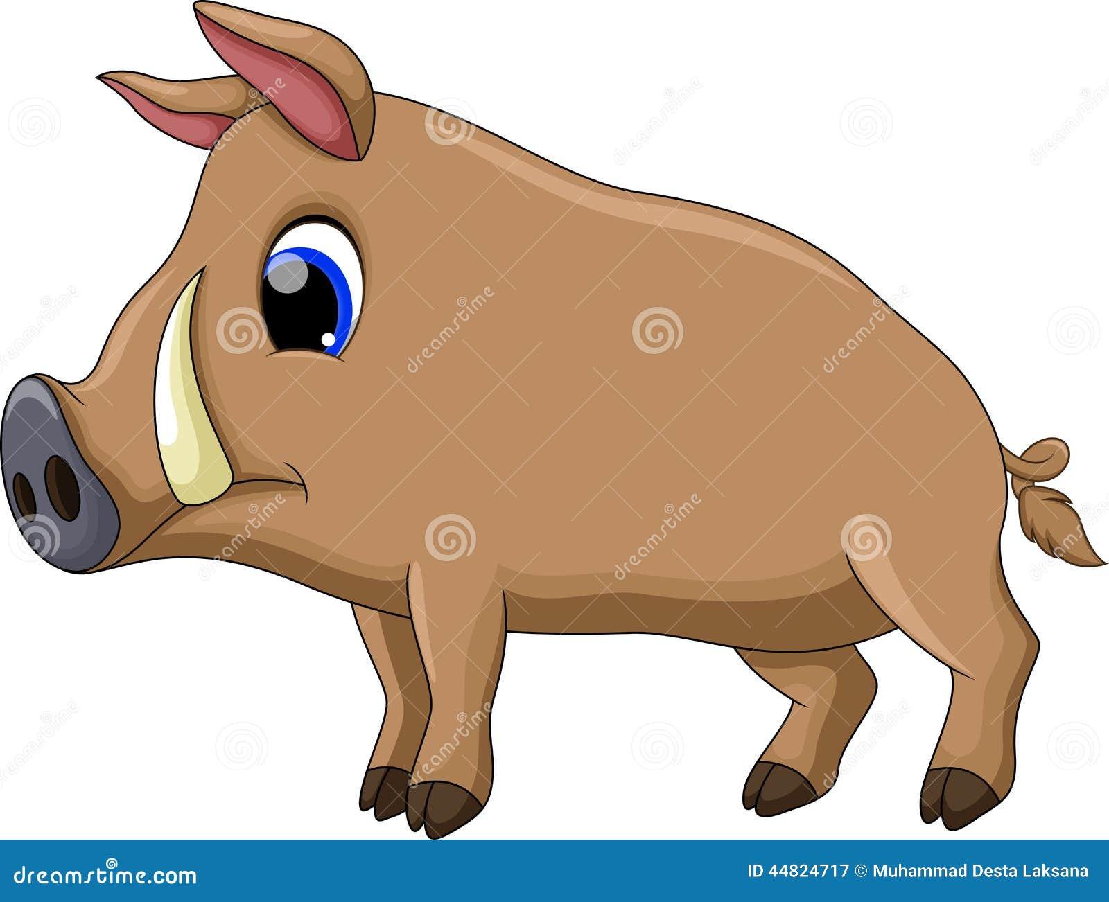 Cute Pig Cartoon Stock Illustration Image 44824717