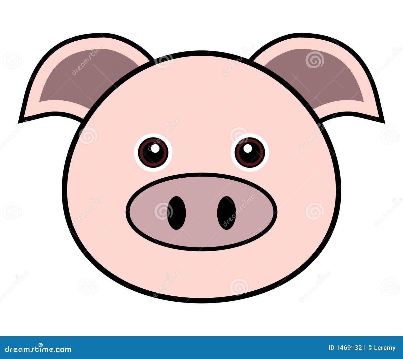 Cute Pig Vector Stock Vector Illustration Of Cute Face 14691321