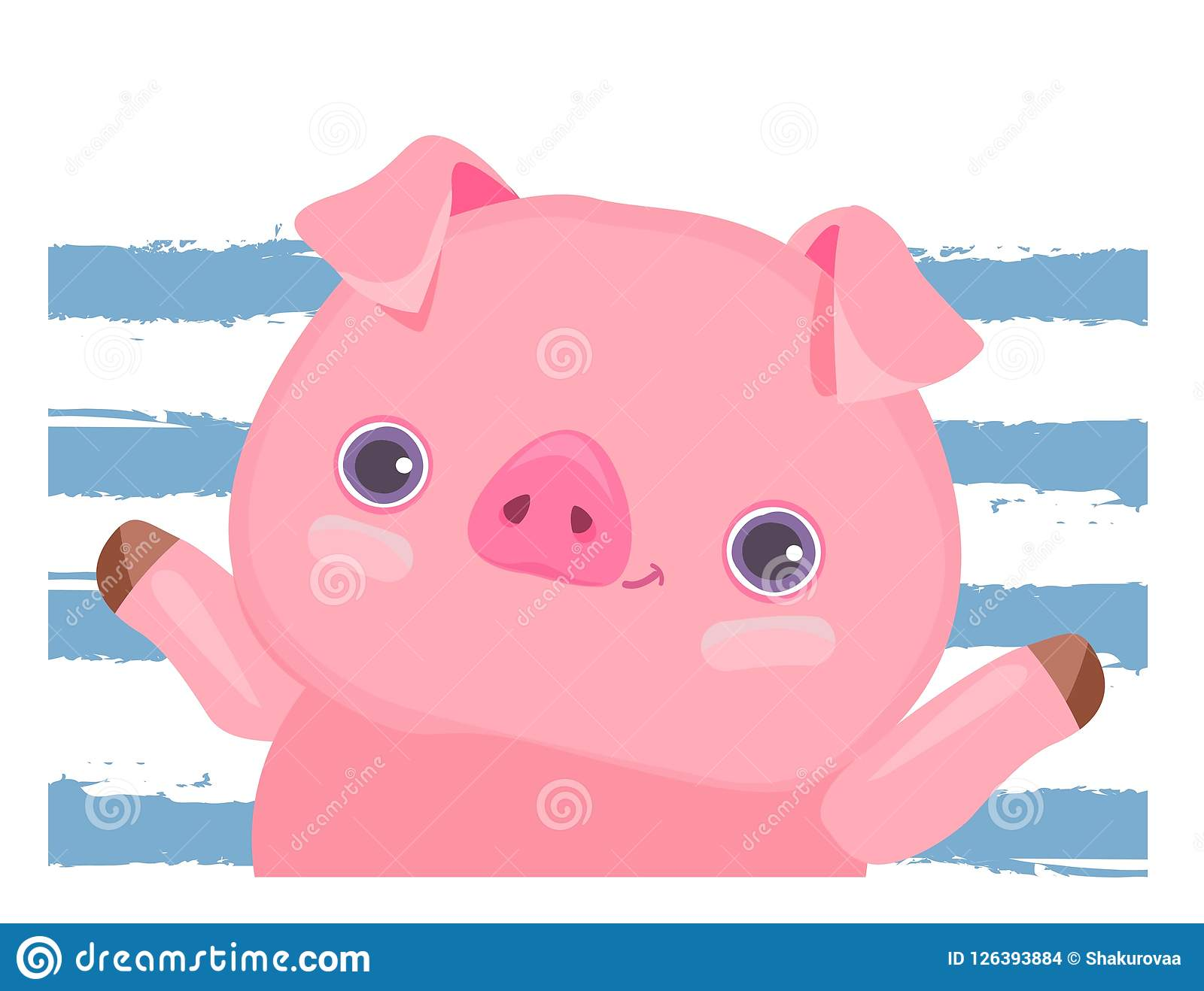cute pig vector illustration cartoon chinese new year