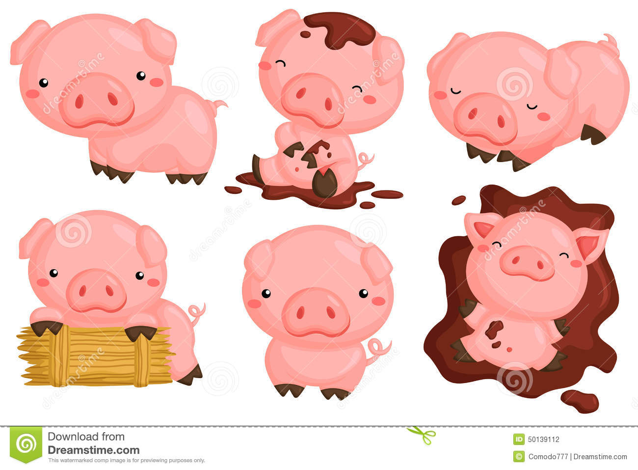 Pigs Stock Illustrations – 4,107 Pigs Stock Illustrations, Vectors ...