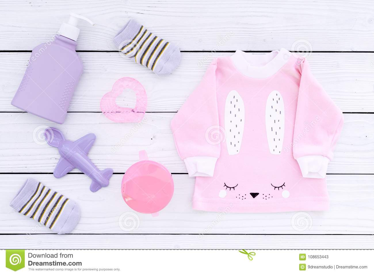 6ee29e932341 Cute Pink Baby Clothes For Girl. Shirt