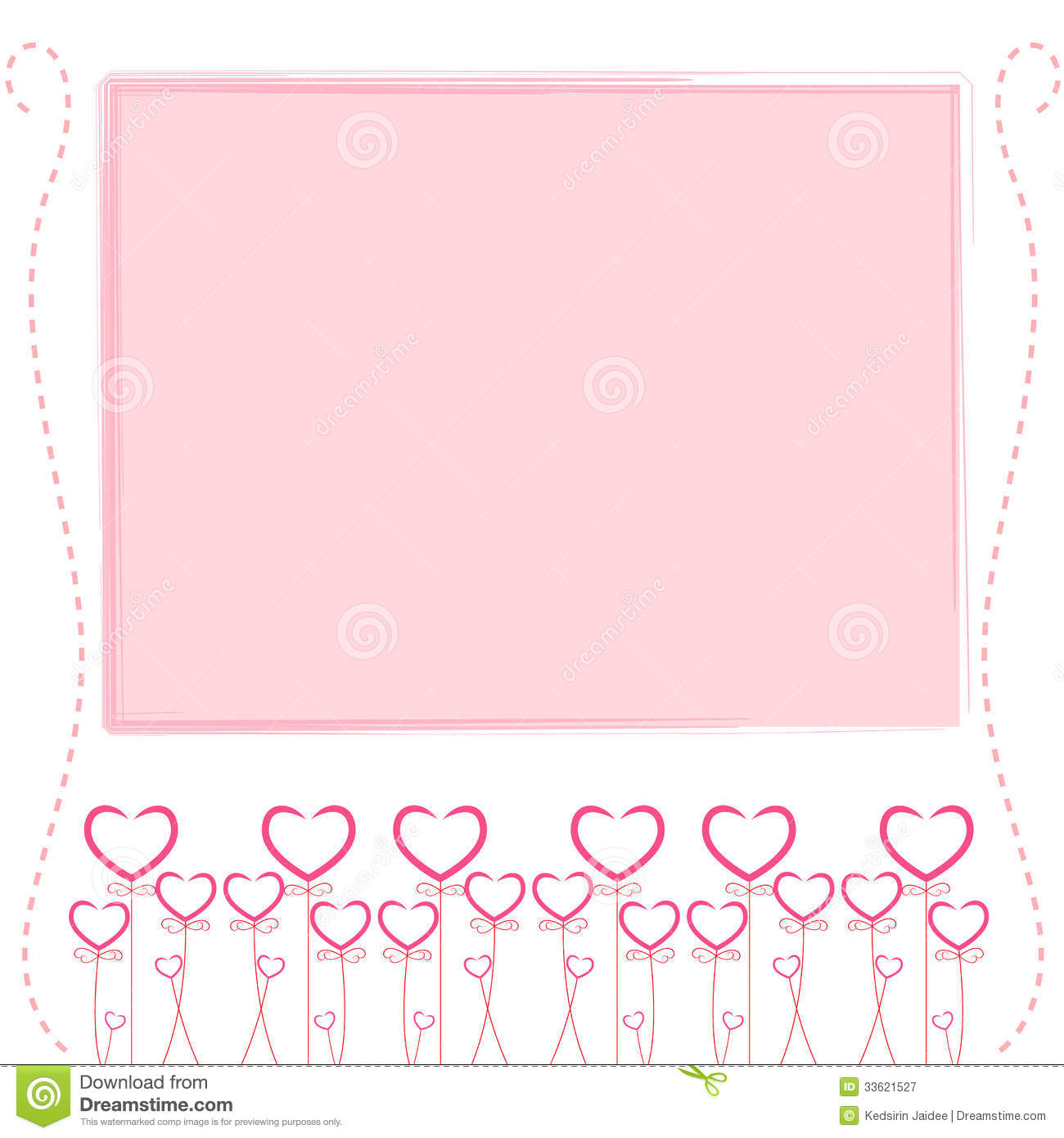 Cute Pink Background Cute Card Of Love Royalty Free Stock