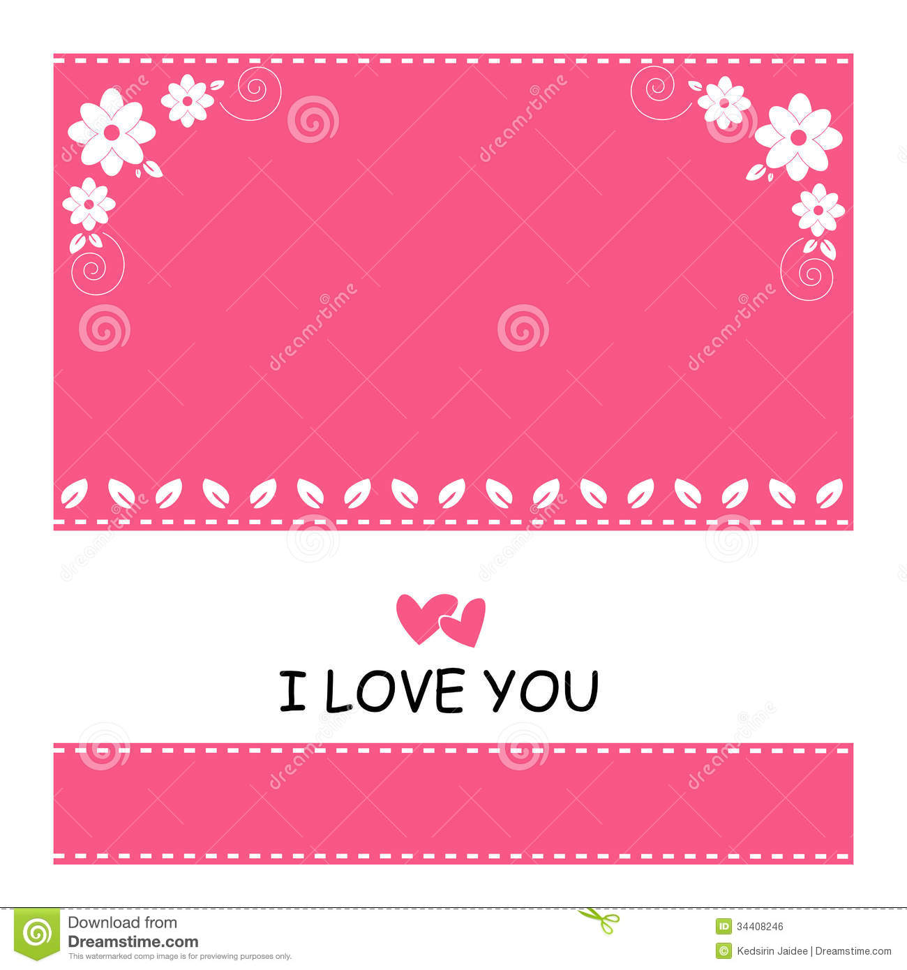 cute of pink background and white flower with love stock vector