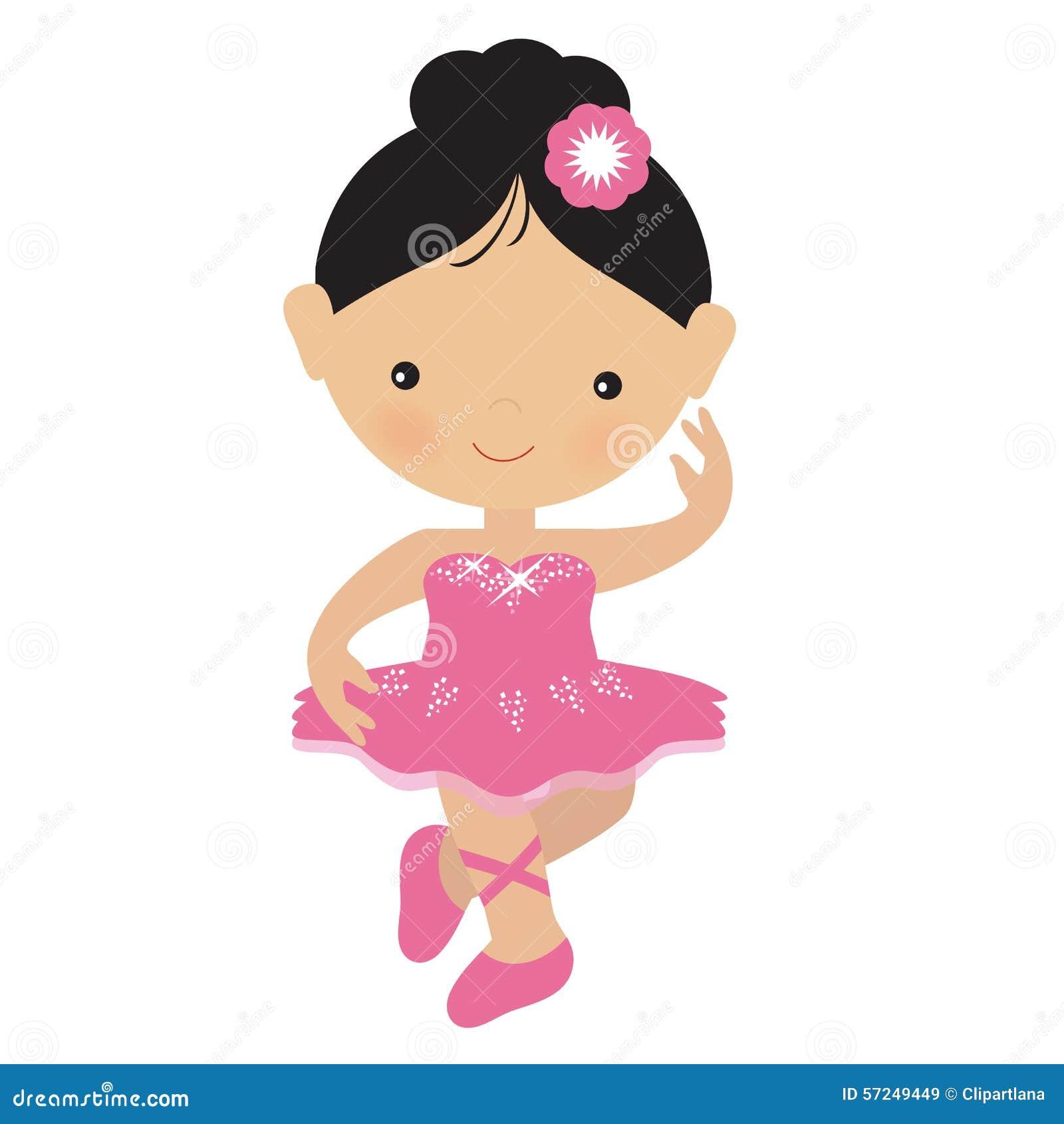 Cute Pink Ballerina Vector Illustration Stock Vector ...
