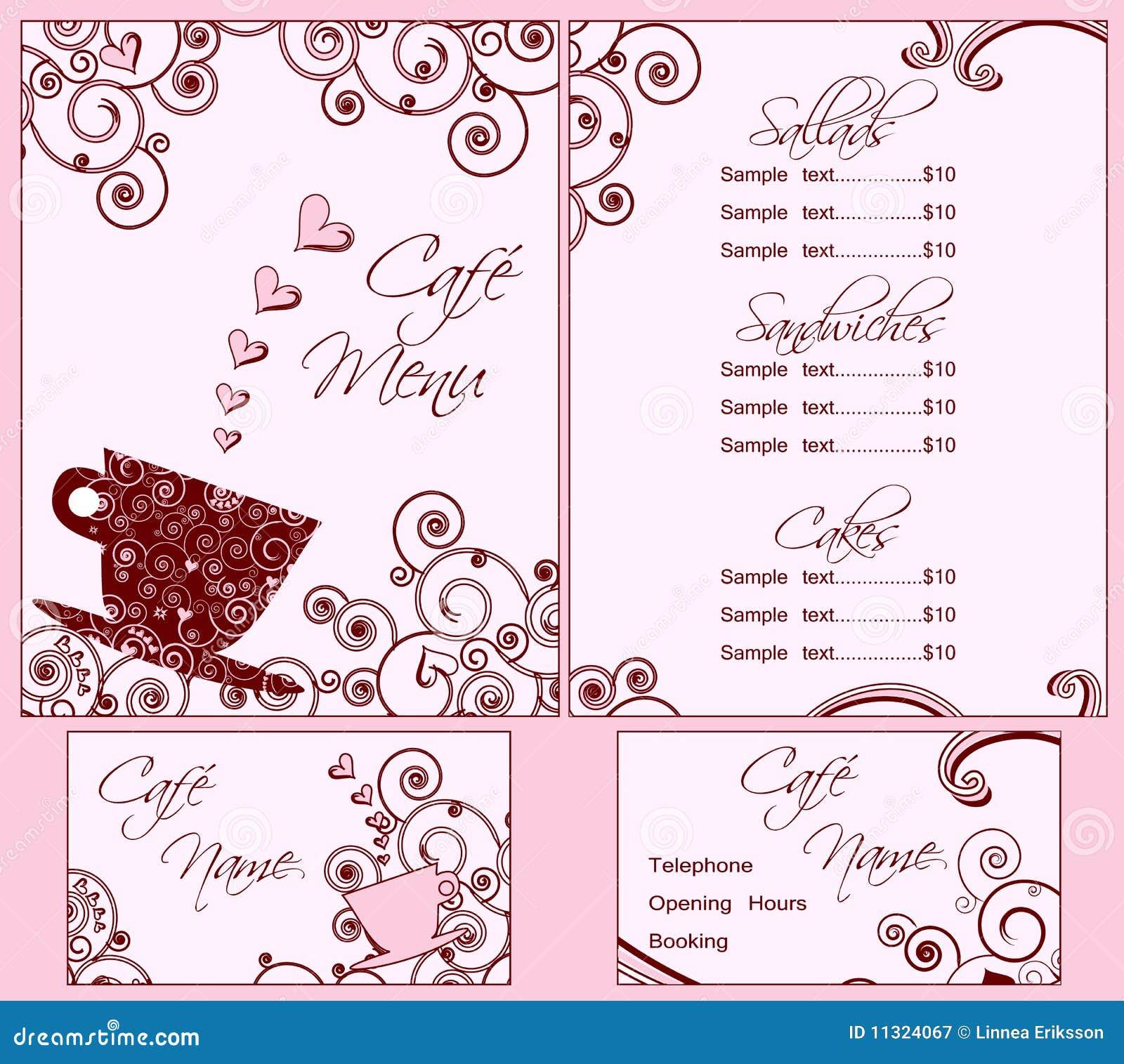 Menu Templates Free Download. Free Menu Card Downloads. View Original U2026  Cafe Menu Templates Free Download