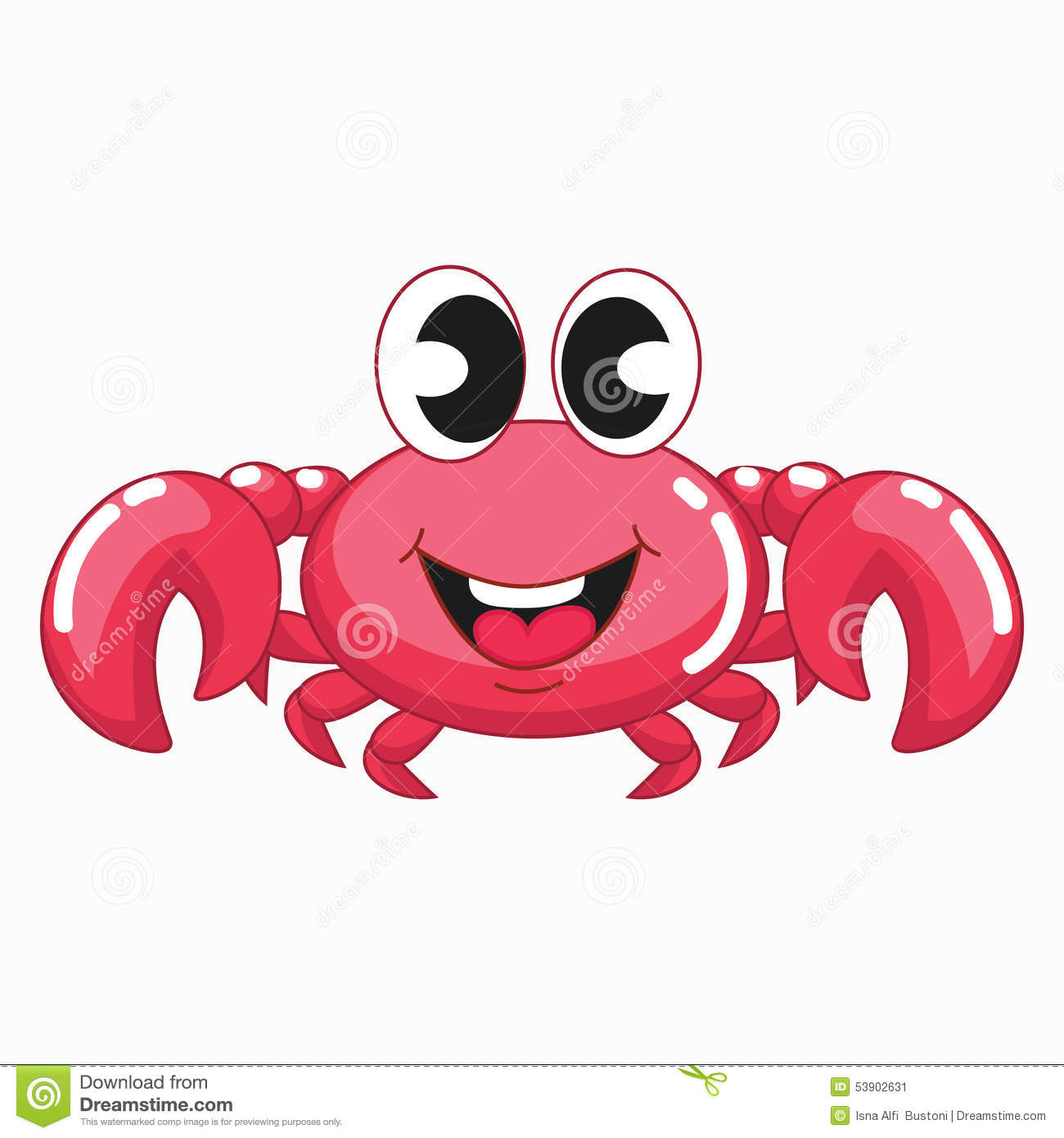 cute pink crab stock vector  image of pink  decapoda