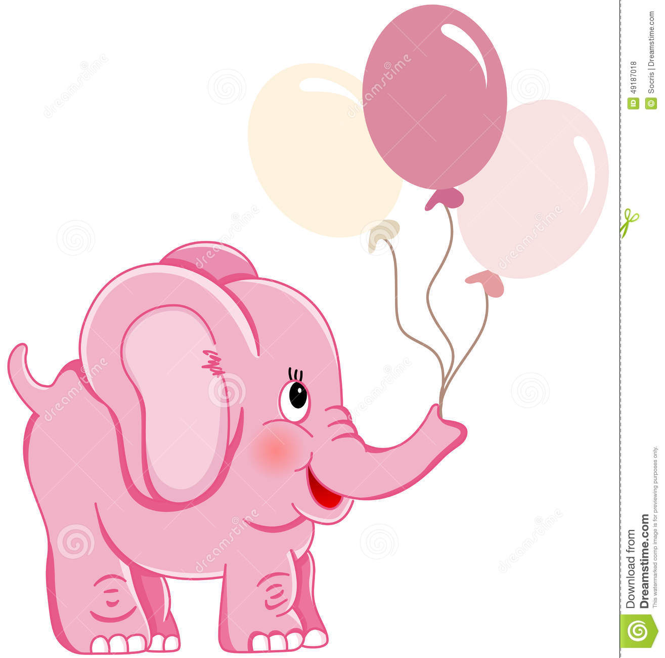 cute pink elephant holding balloons stock vector image clipart baby girl spring clip art baby girl dress
