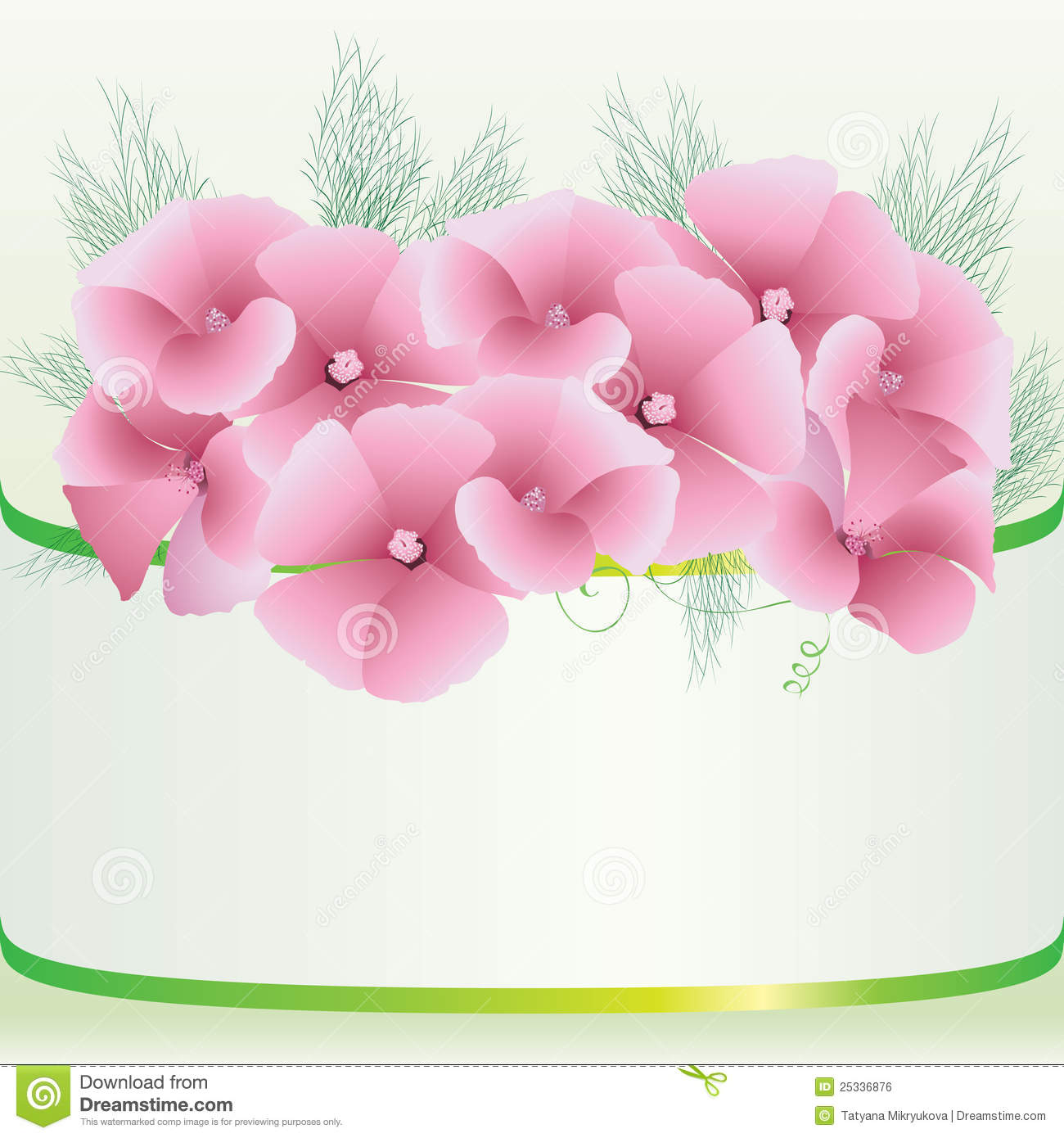 Cute pink floral background stock vector illustration of color cute pink floral background mightylinksfo