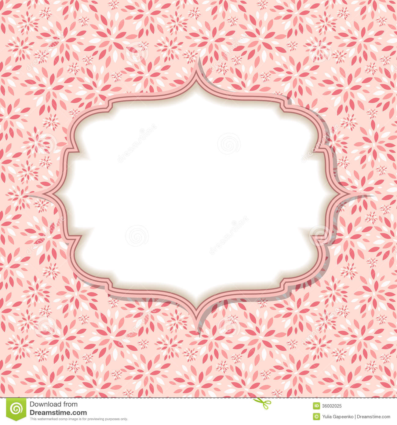Cute Pink Frame Vector Illustration Royalty Free Stock Photo - Image ...
