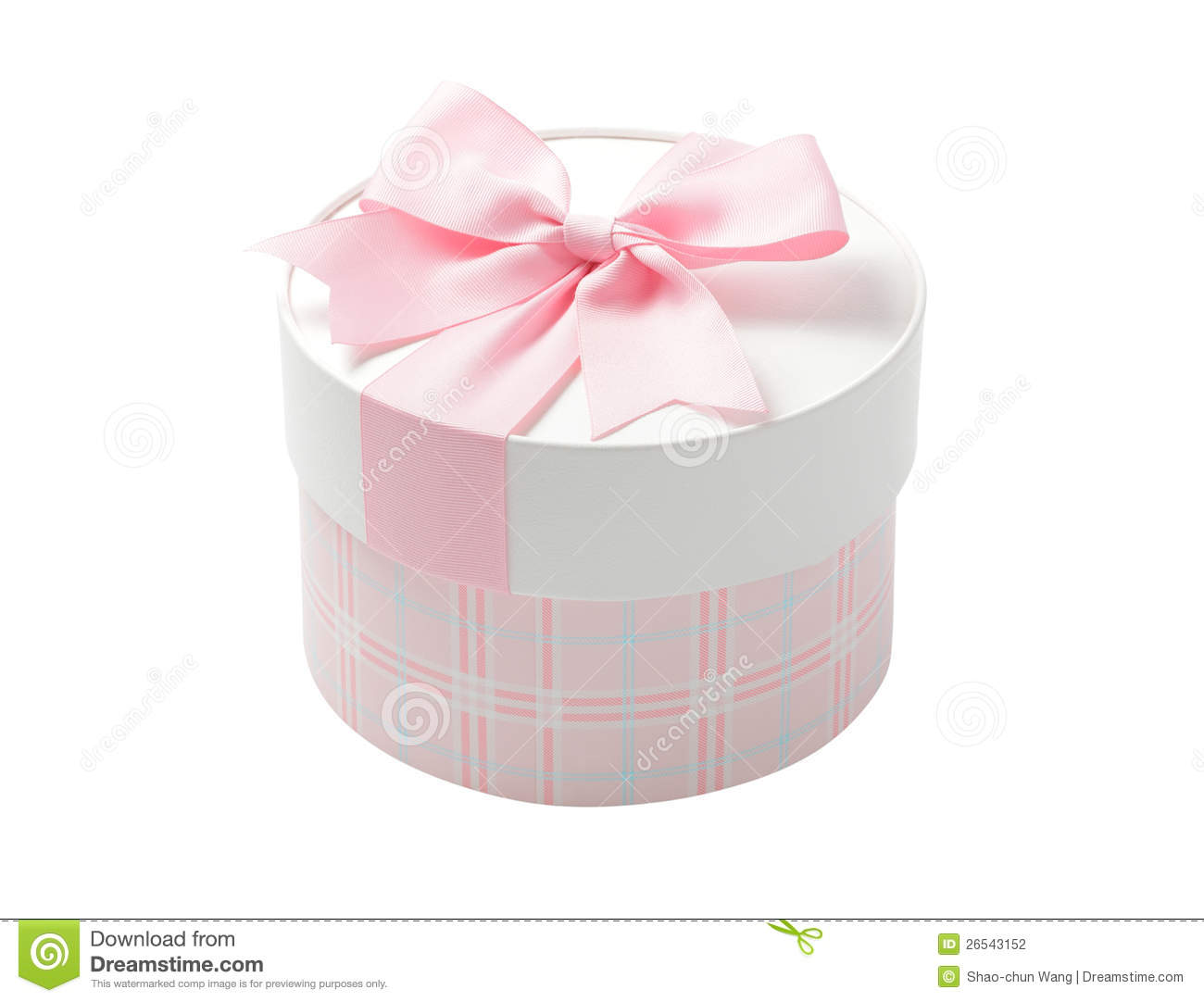 Cute Pink Round Gift Box Stock Photo Image Of Anniversary
