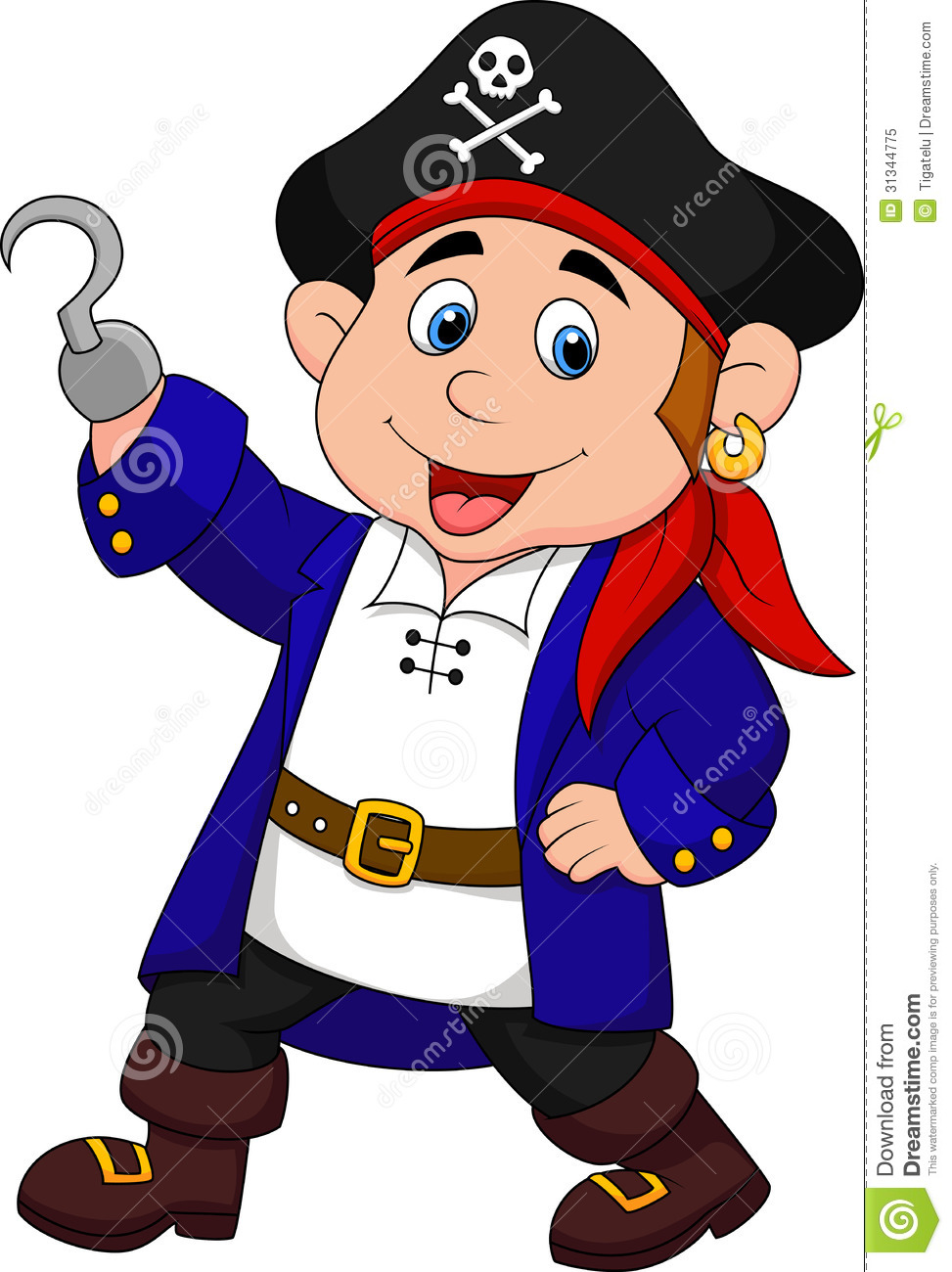 Cute pirate kid cartoon stock vector. Image of isolated ...