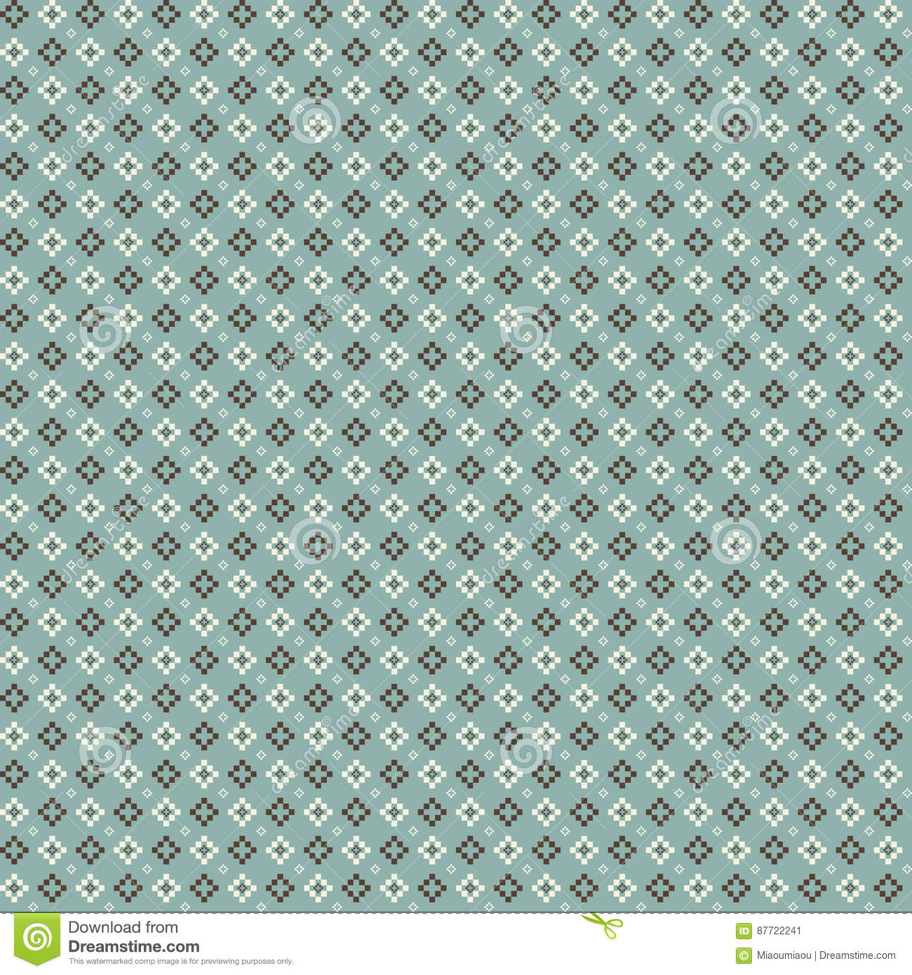 cute pixelated pattern with simple geometric shapes useful for textile and interior design - Pixelated Interior Design