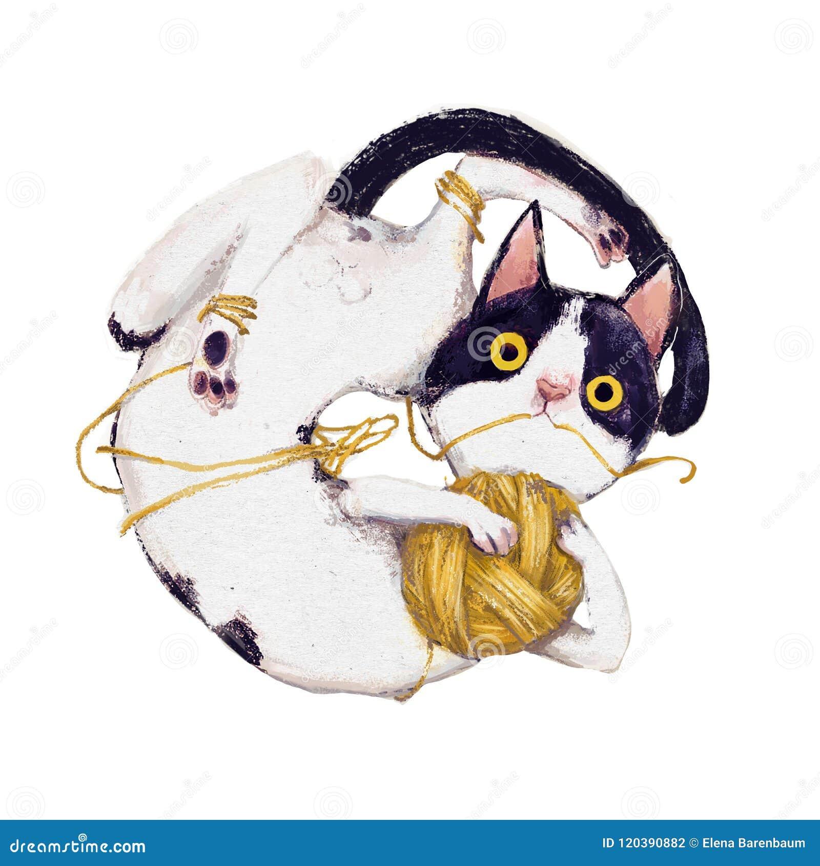 Cute plaing cat