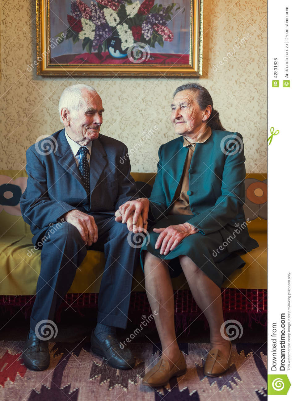 Beautiful Cute House Plans #1: Cute-plus-year-old-married-couple-posing-portrait-their-house-love-forever-concept-42831836.jpg