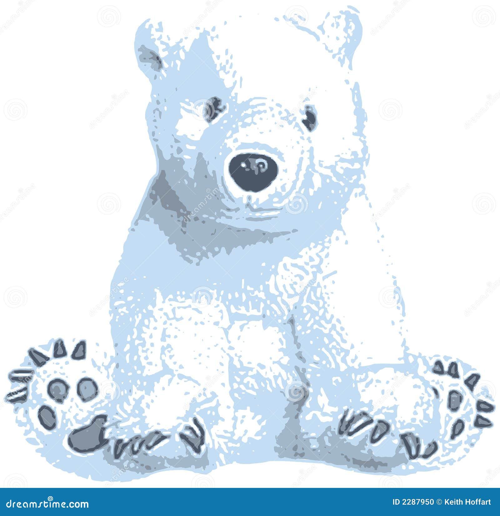 Cute polar bear drawings - photo#26