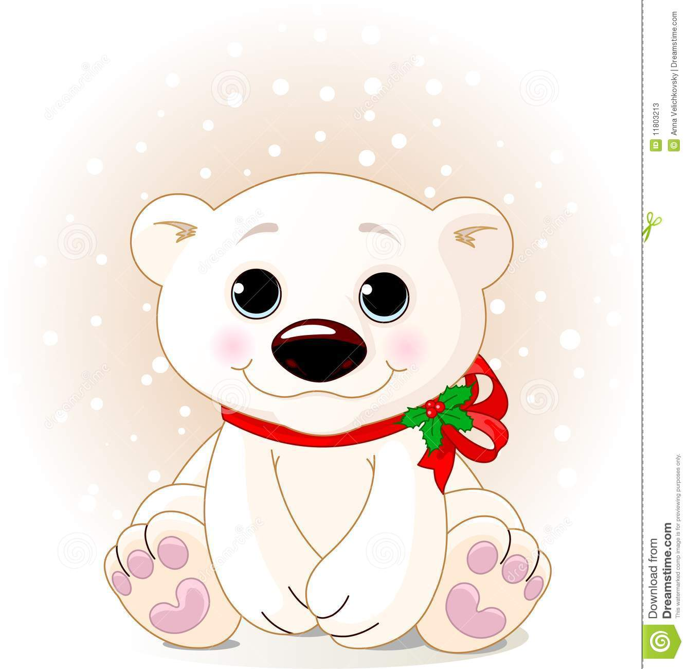 Cute cartoon polar bear cubs - photo#8