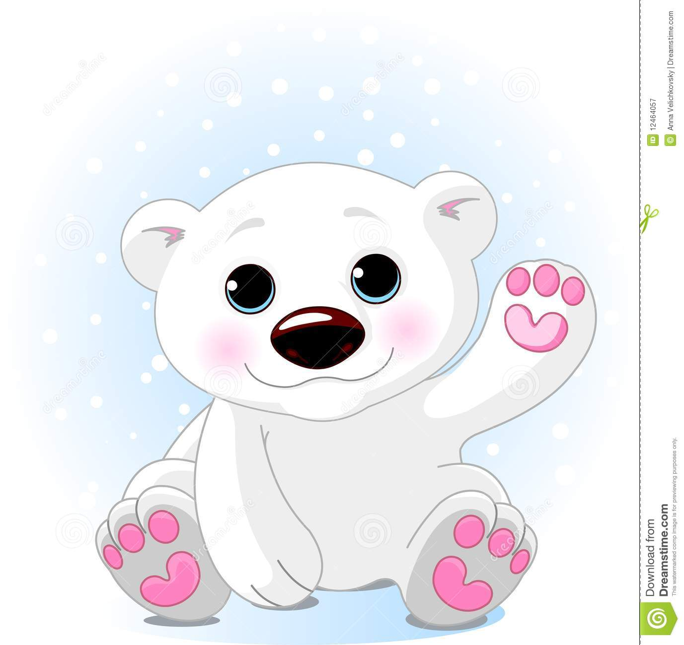 Cute cartoon polar bear cubs - photo#1