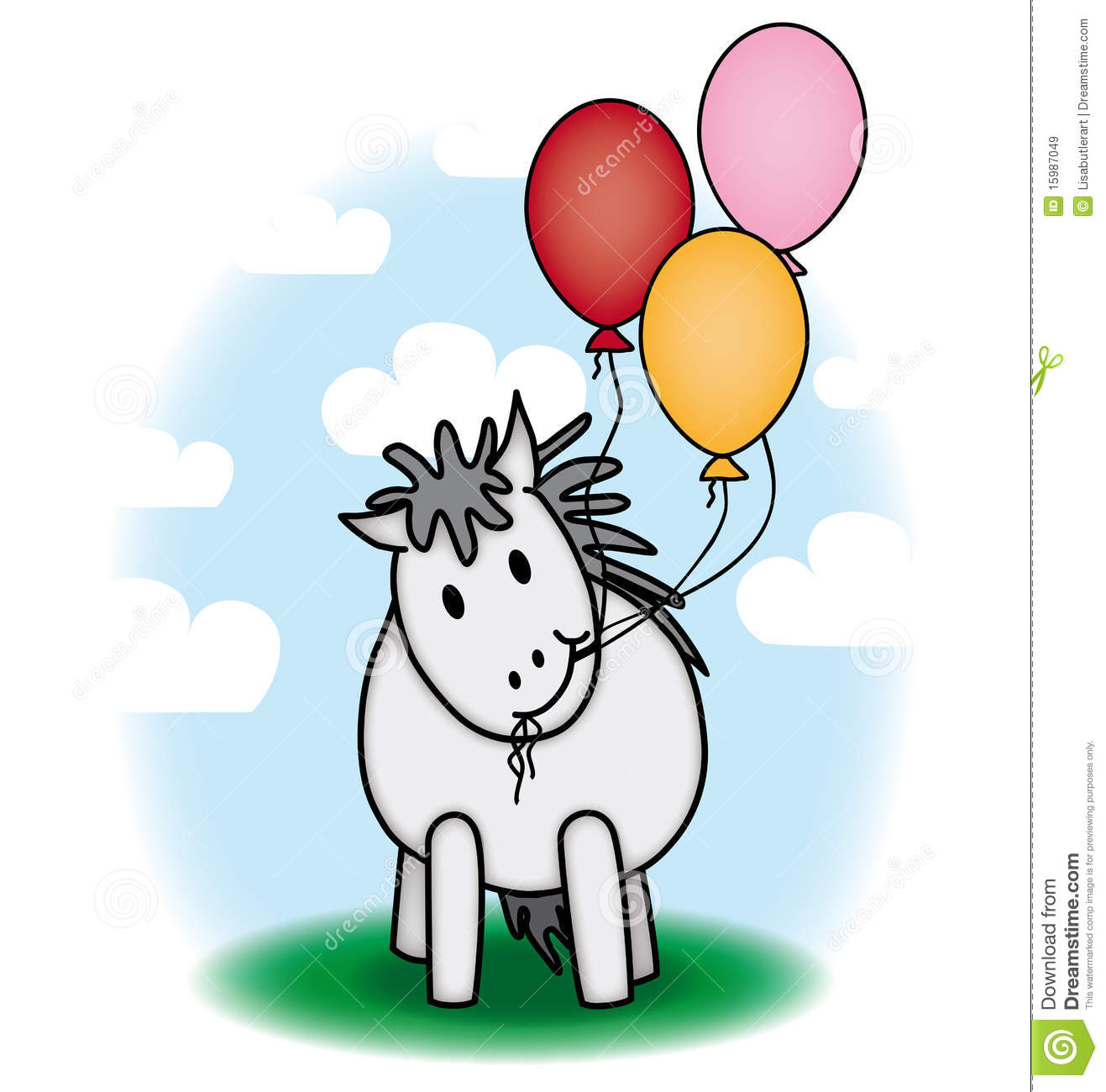 Fine Cute Pony And Balloons Royalty Free Stock Images Image 15987049 Hairstyles For Men Maxibearus