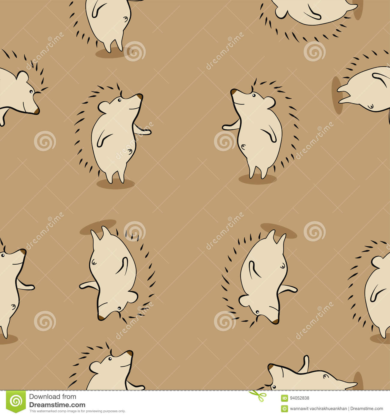 cute porcupine pattern stock vector illustration of greeting 94052838