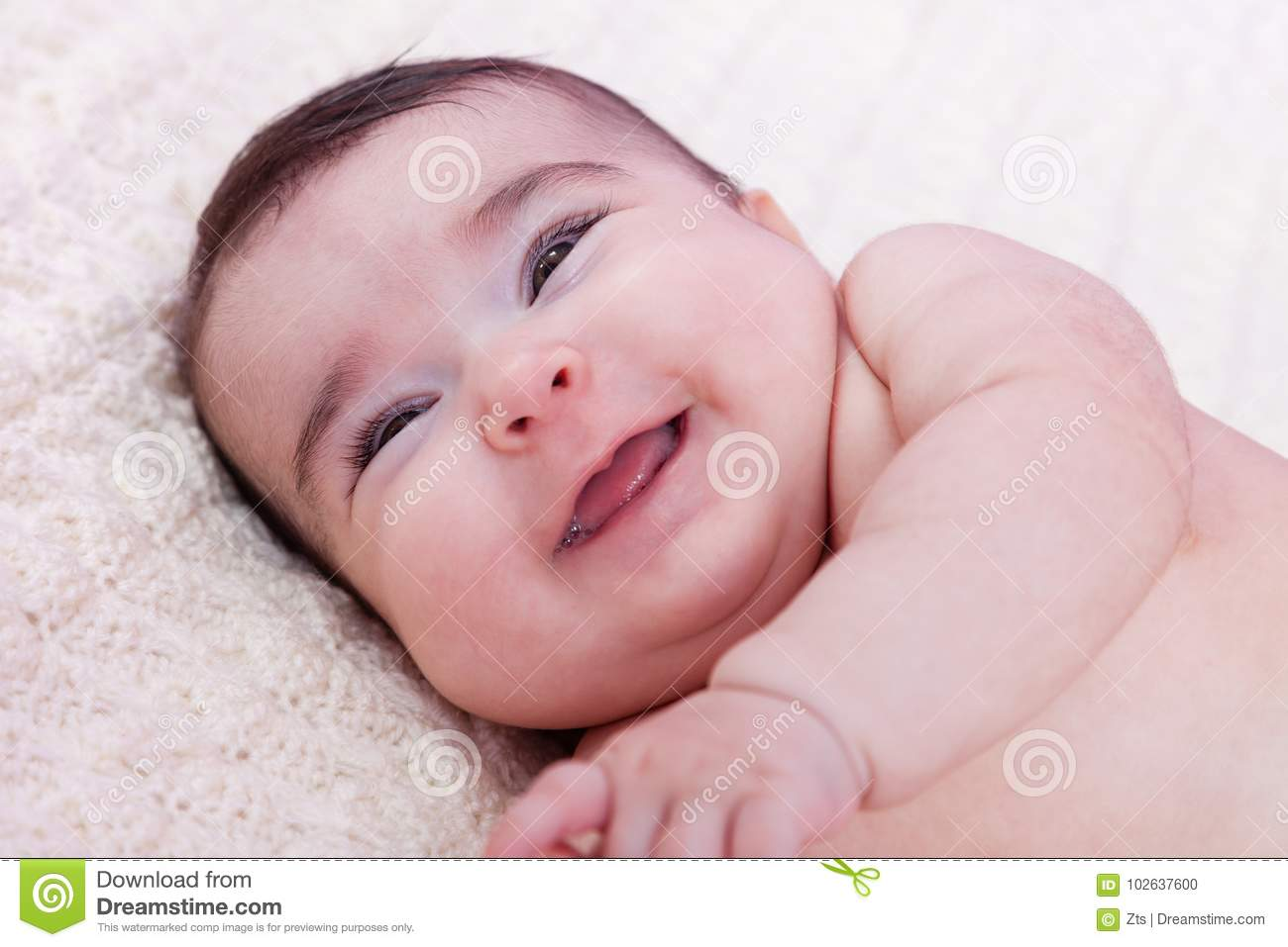 cute, pretty, happy, chubby and smiling baby girl portrait, laughing