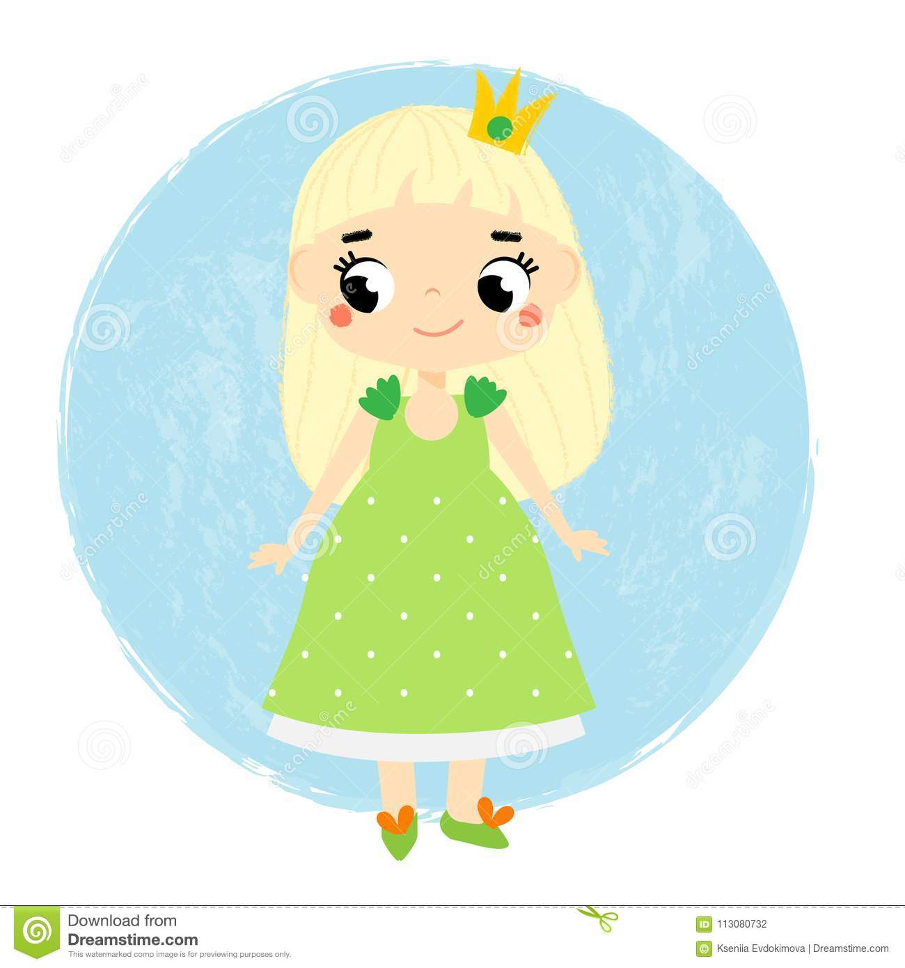 Cute princess little baby girl in queen crown cartoon style vector download cute princess little baby girl in queen crown cartoon style vector illustration for m4hsunfo