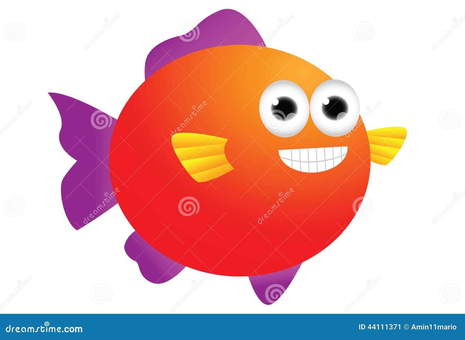 Cute puffer fish cartoon stock illustration. Illustration of cartoon ...