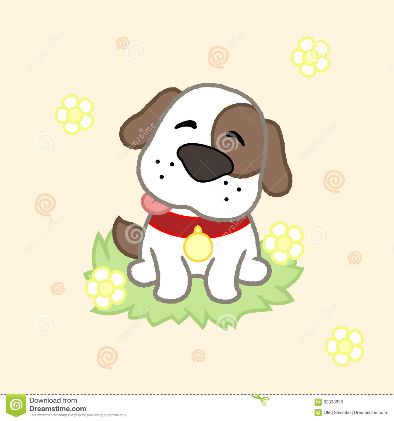 puppy drawing. Cute puppy  drawing for kids Vector illustration Puppy Drawing For Kids Illustration Stock
