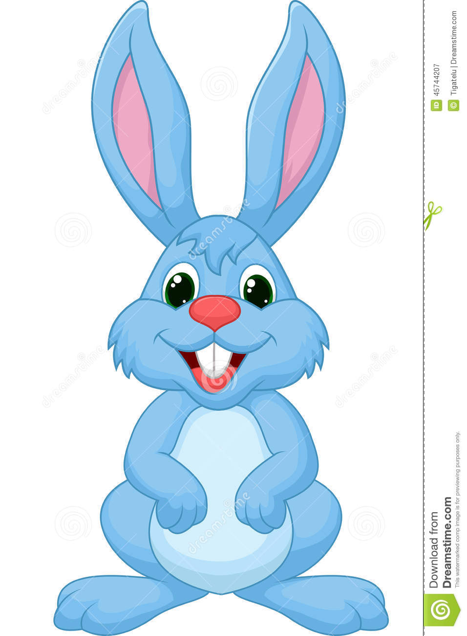 Cute Rabbit Cartoon Stock Vector - Image: 45744207