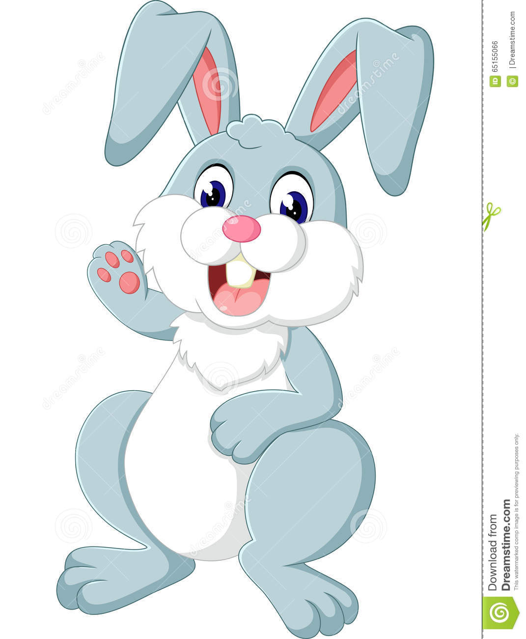 Cute rabbit stock vector. Illustration of wicker, adorable ...