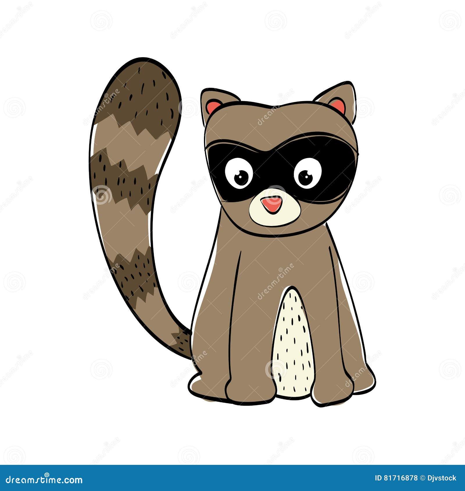 cute raccoon cartoon stock vector illustration of drawing 81716878